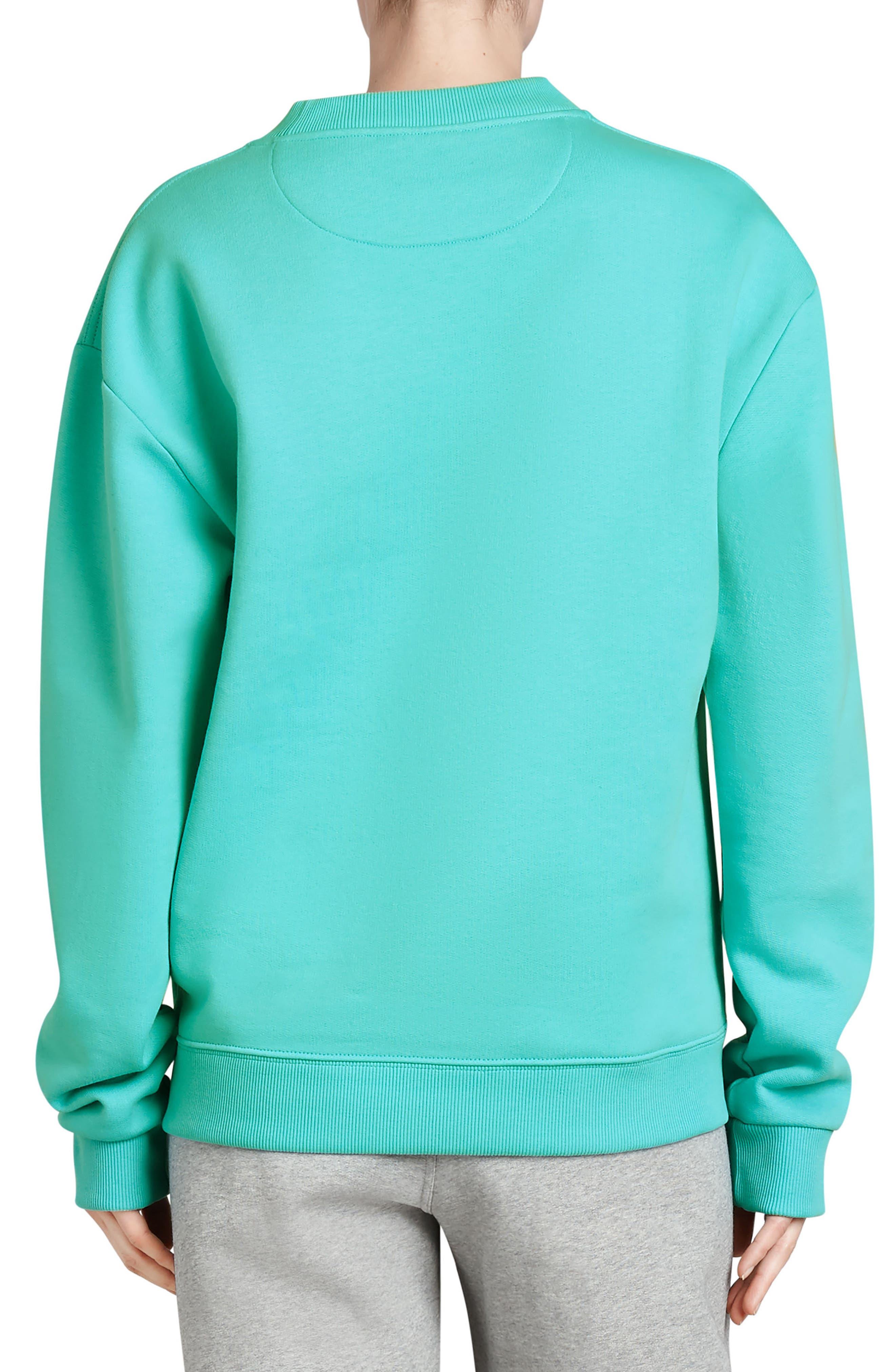 Vintage Crest Sweatshirt,                             Alternate thumbnail 2, color,                             AQUA
