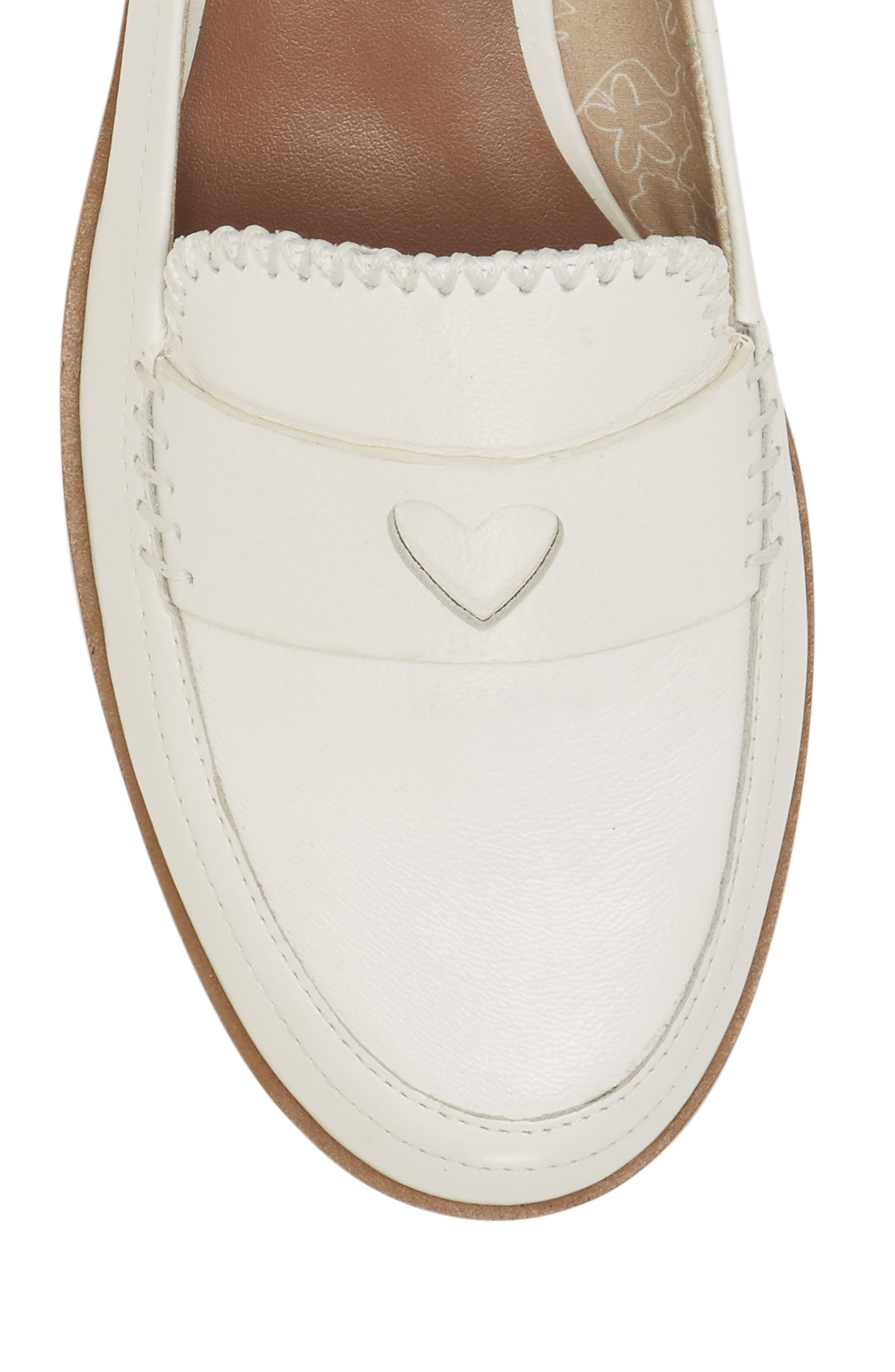 Laddie Loafer,                             Alternate thumbnail 7, color,                             MILK LEATHER