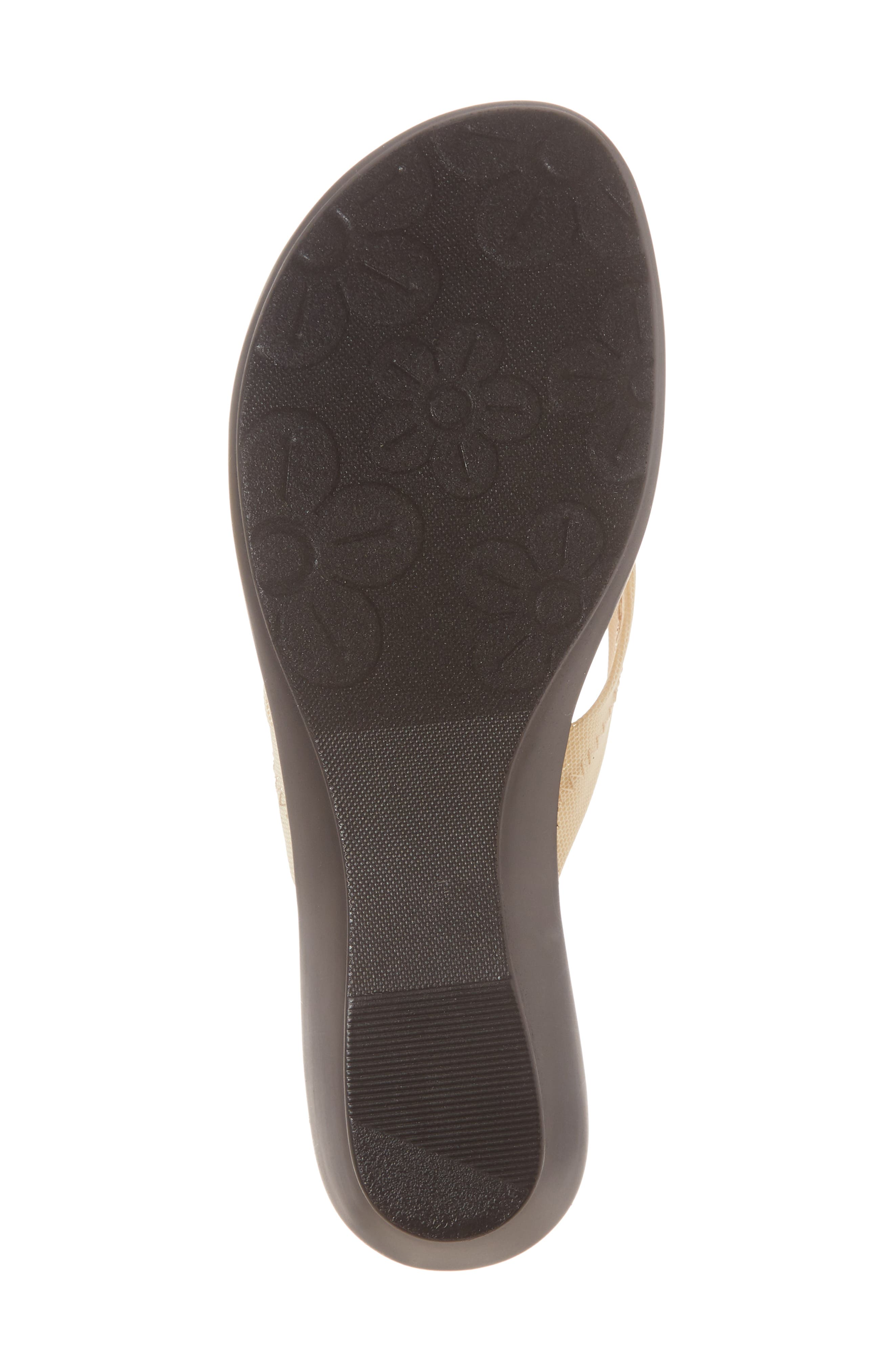 Ying Flip Flop,                             Alternate thumbnail 6, color,                             BEIGE STRETCH FABRIC