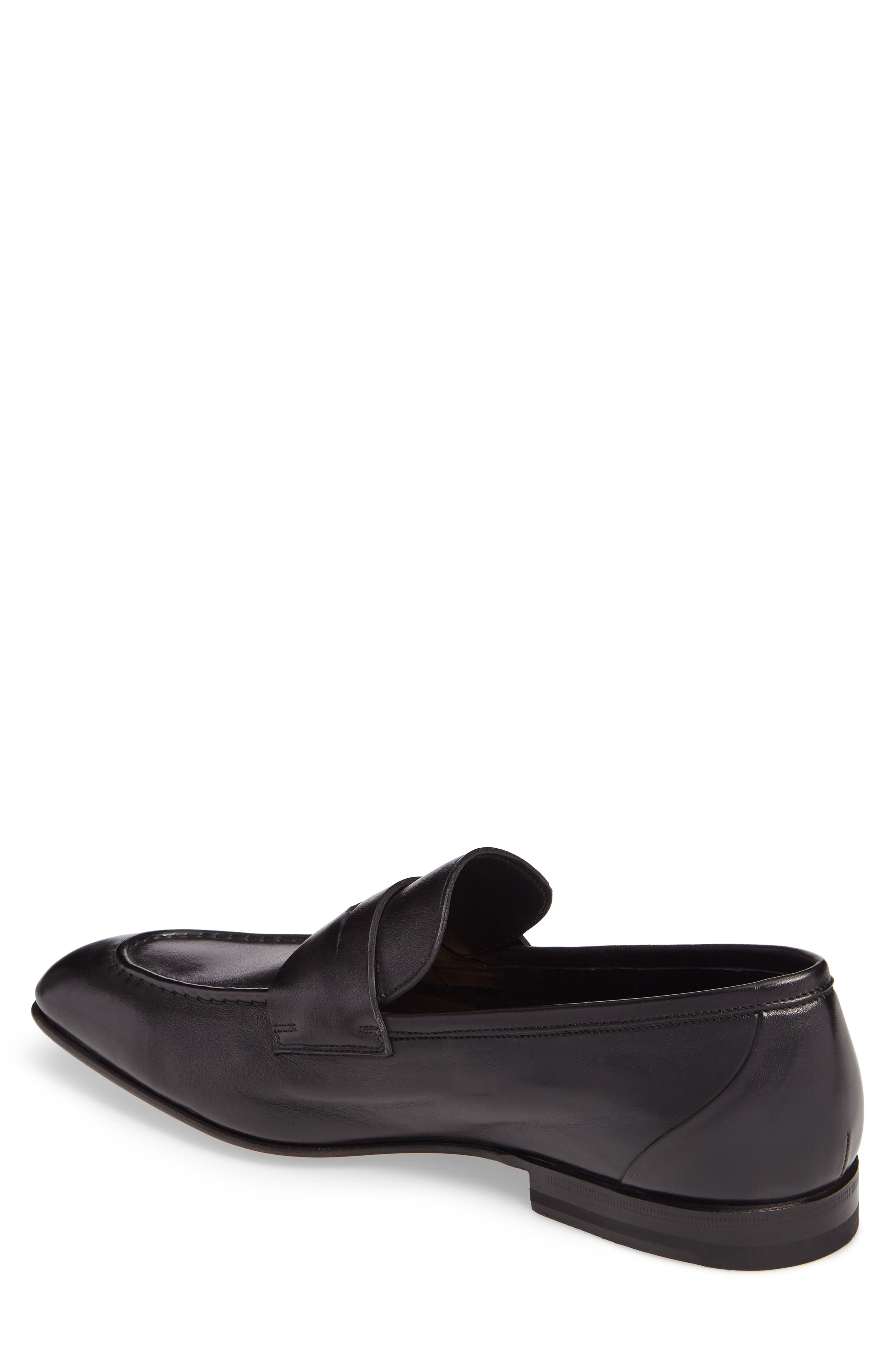 Gannon Penny Loafer,                             Alternate thumbnail 2, color,                             BLACK