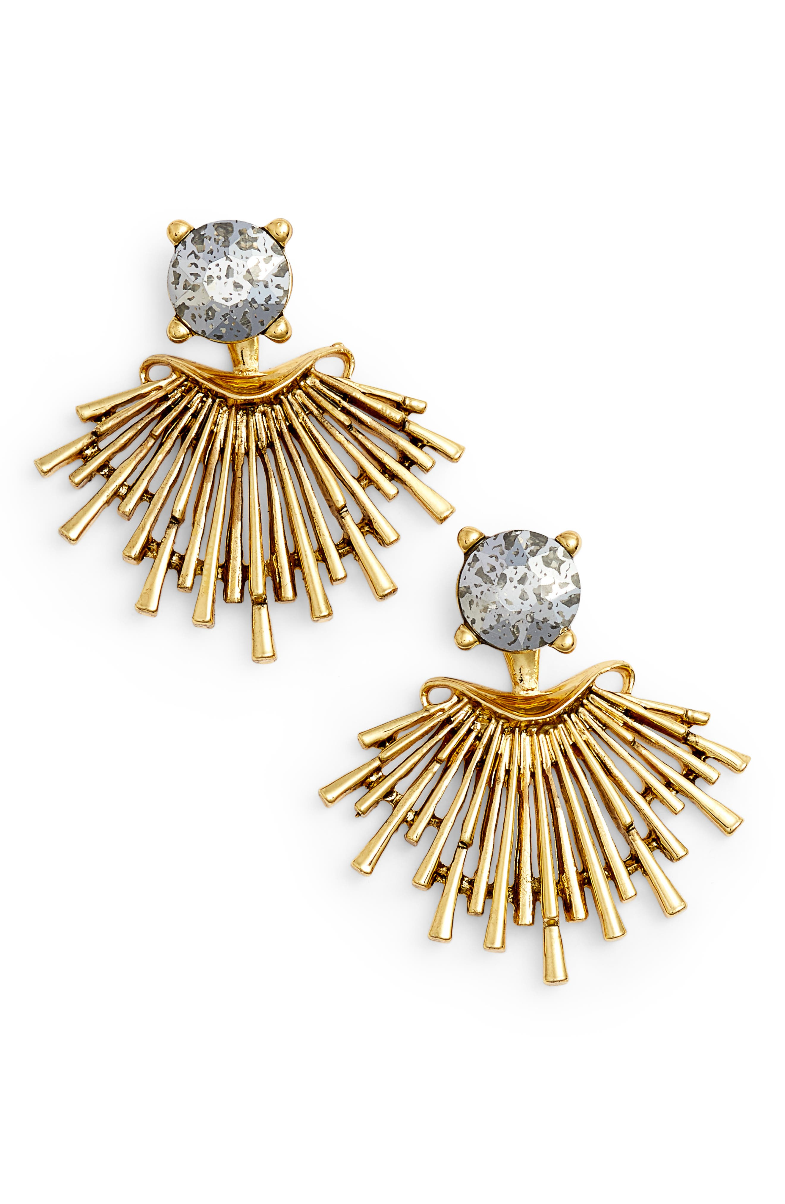 Crystal Drop Earrings,                             Main thumbnail 1, color,                             GOLD