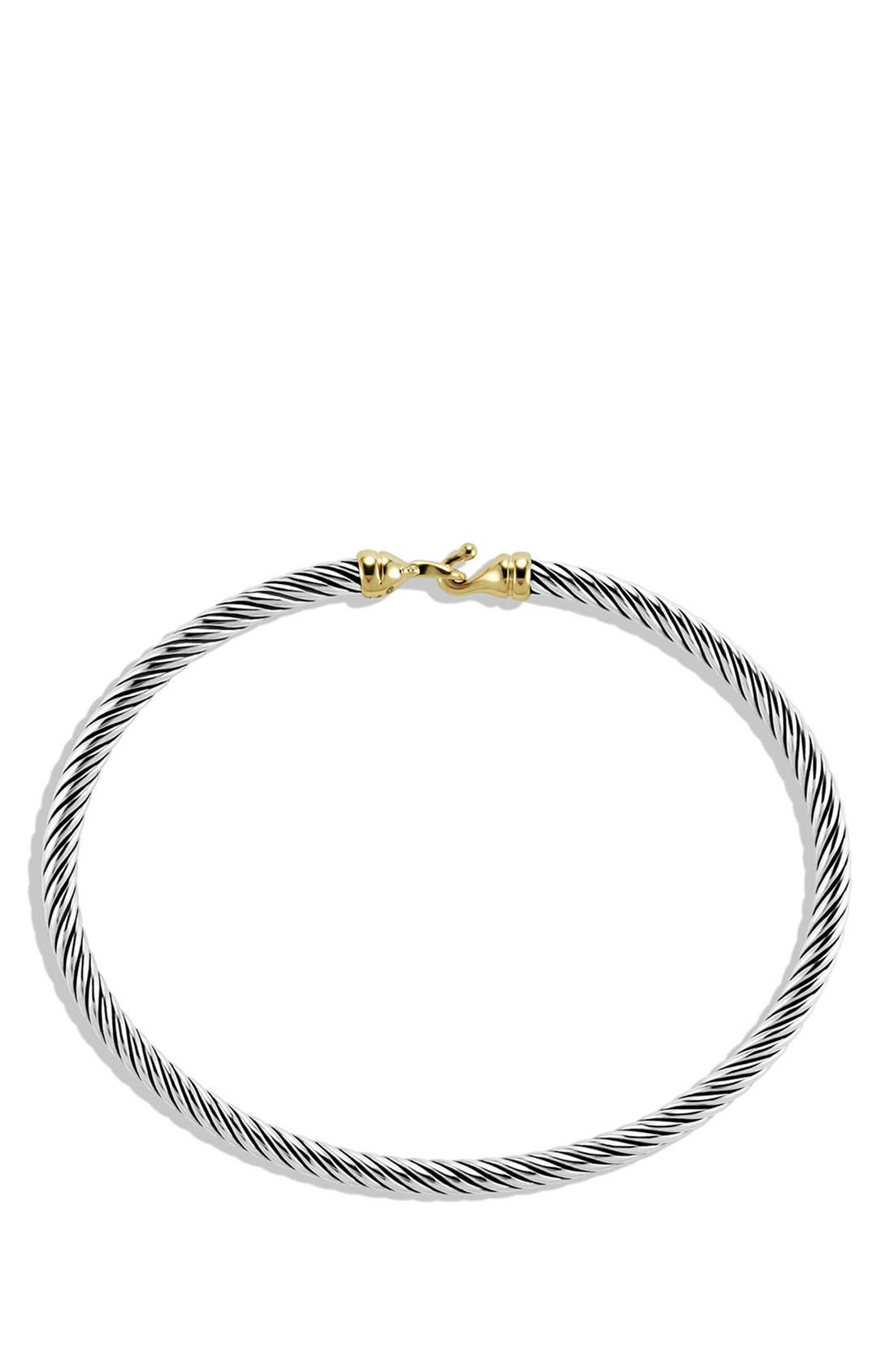 Cable Collectibles Buckle Bangle Bracelet with 18K Gold, 3mm,                             Alternate thumbnail 2, color,                             TWO TONE