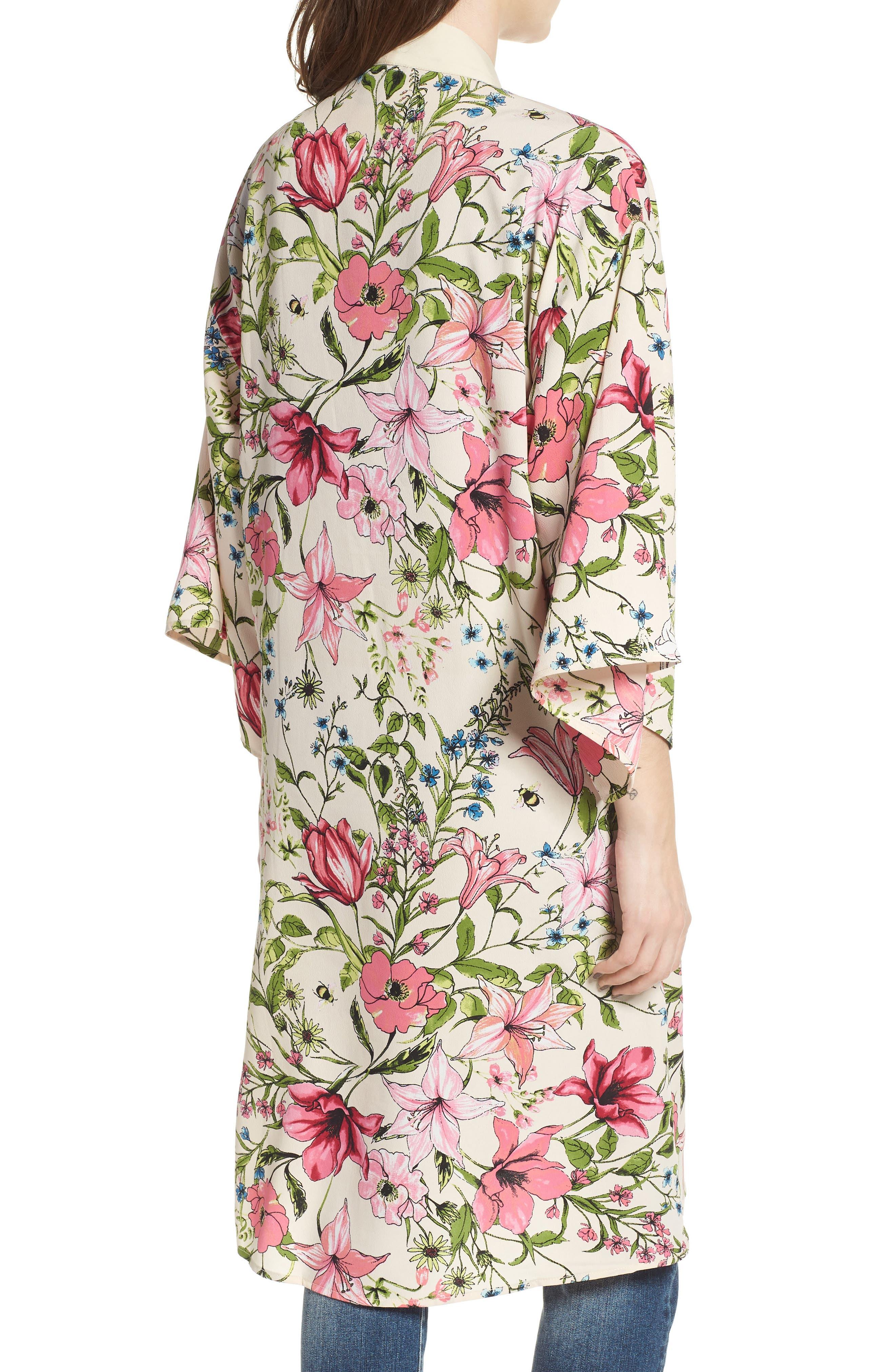 Floral Crepe Kimono,                             Alternate thumbnail 2, color,                             277