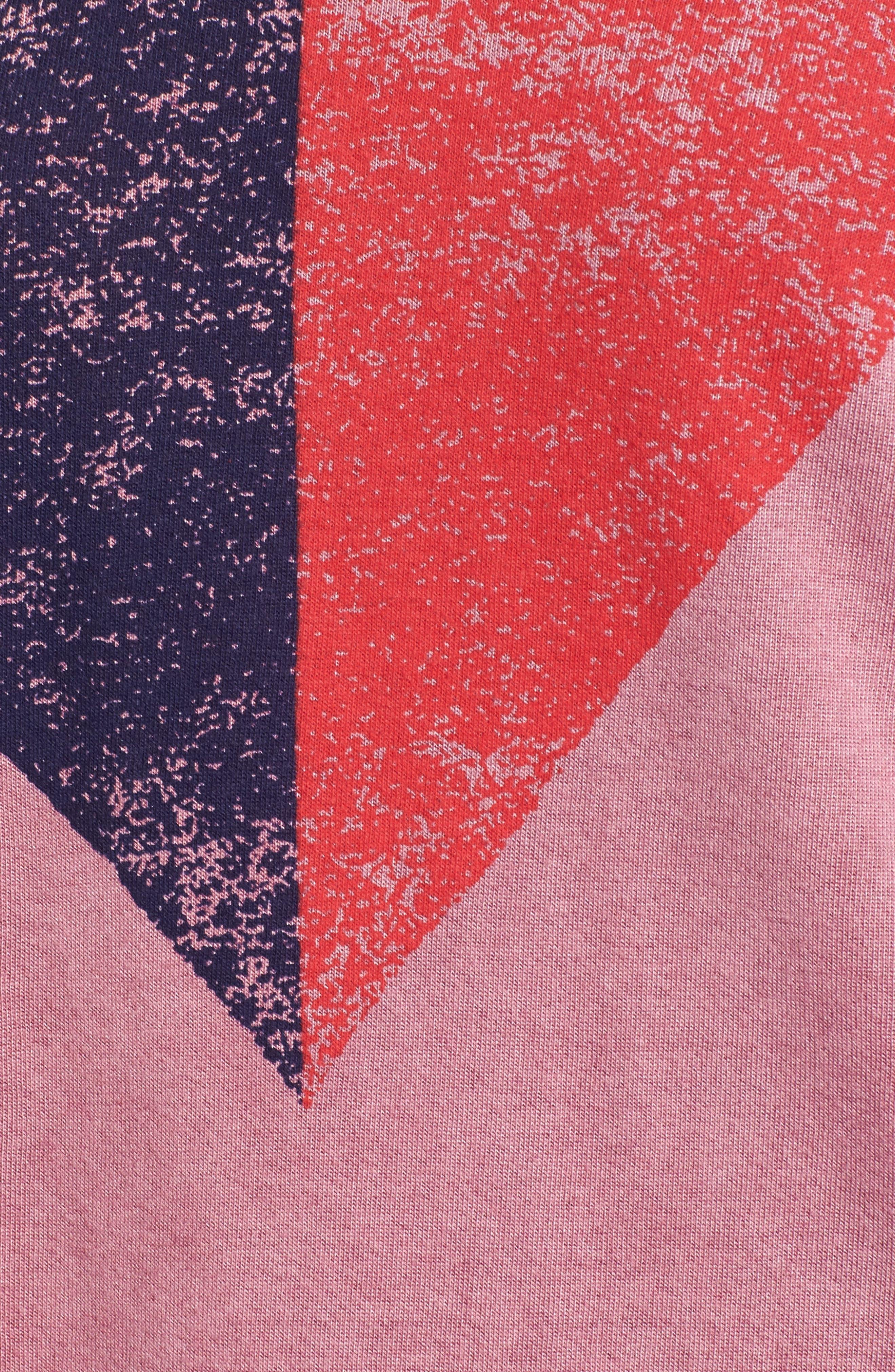 Split Heart Terry Sweatshirt,                             Alternate thumbnail 5, color,                             654