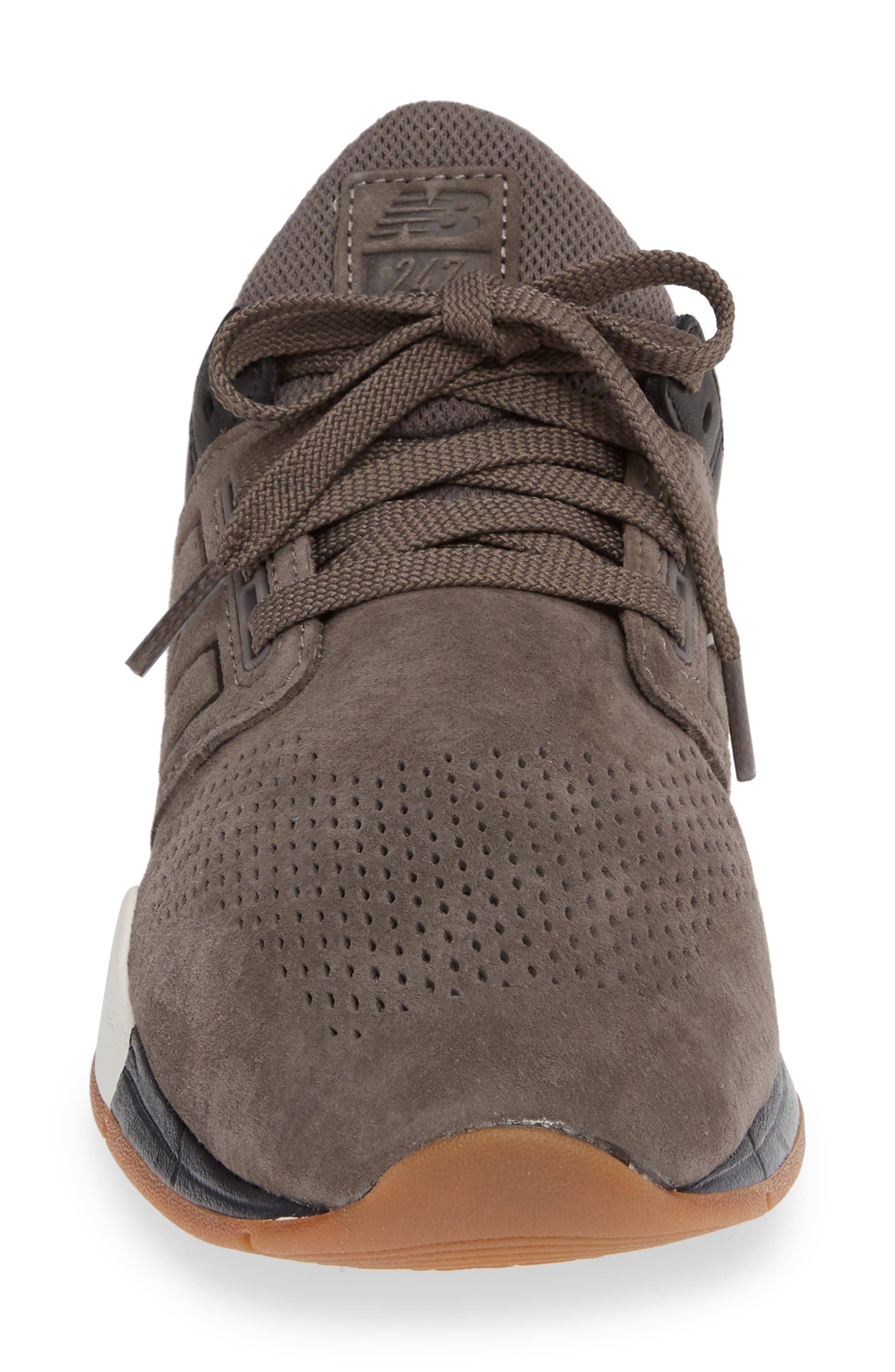 247v2 Sneaker,                             Alternate thumbnail 4, color,                             DARK GREY NUBUCK LEATHER