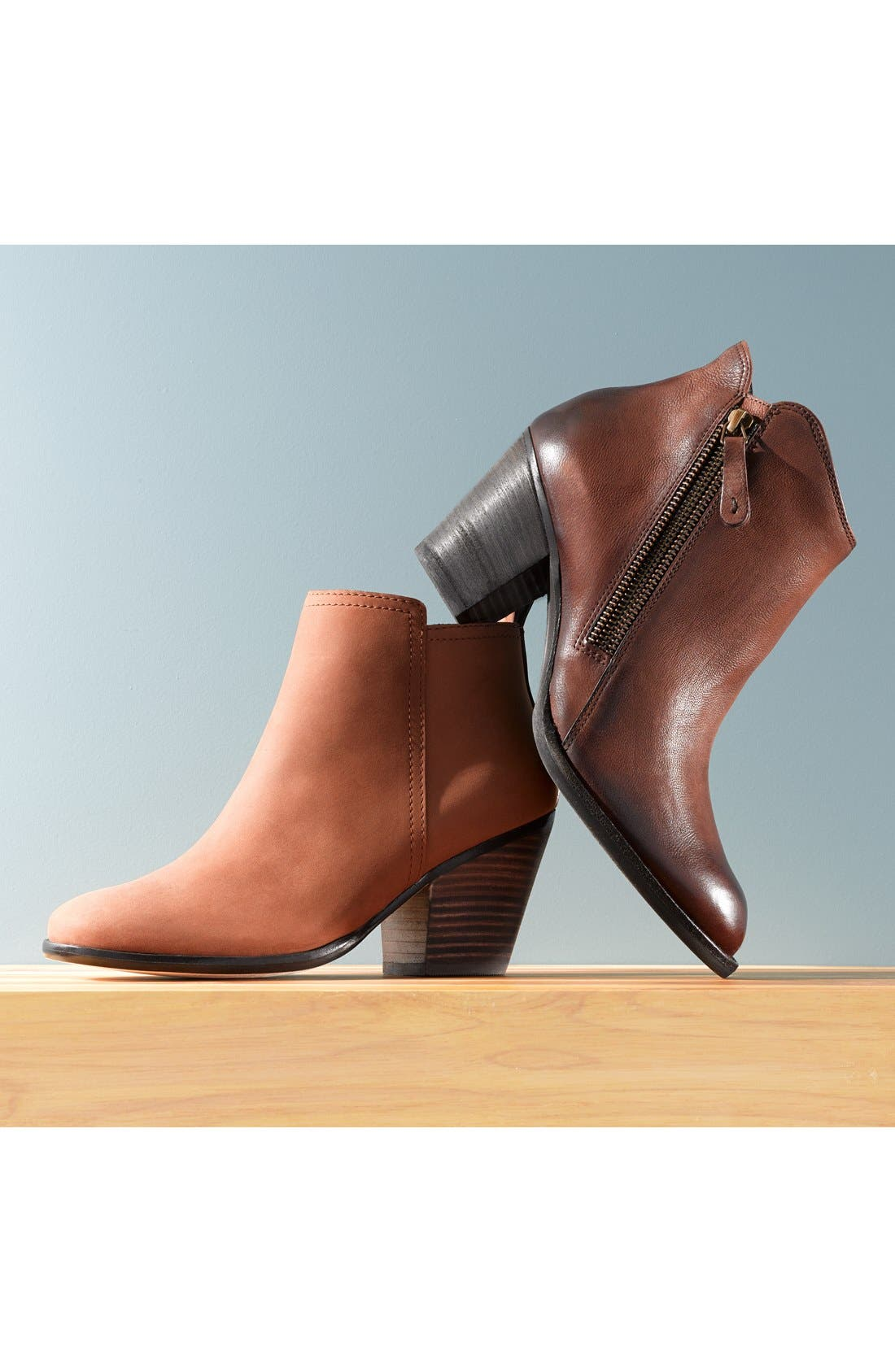 COLE HAAN,                             'Chesney' Round Toe Bootie,                             Alternate thumbnail 5, color,                             001