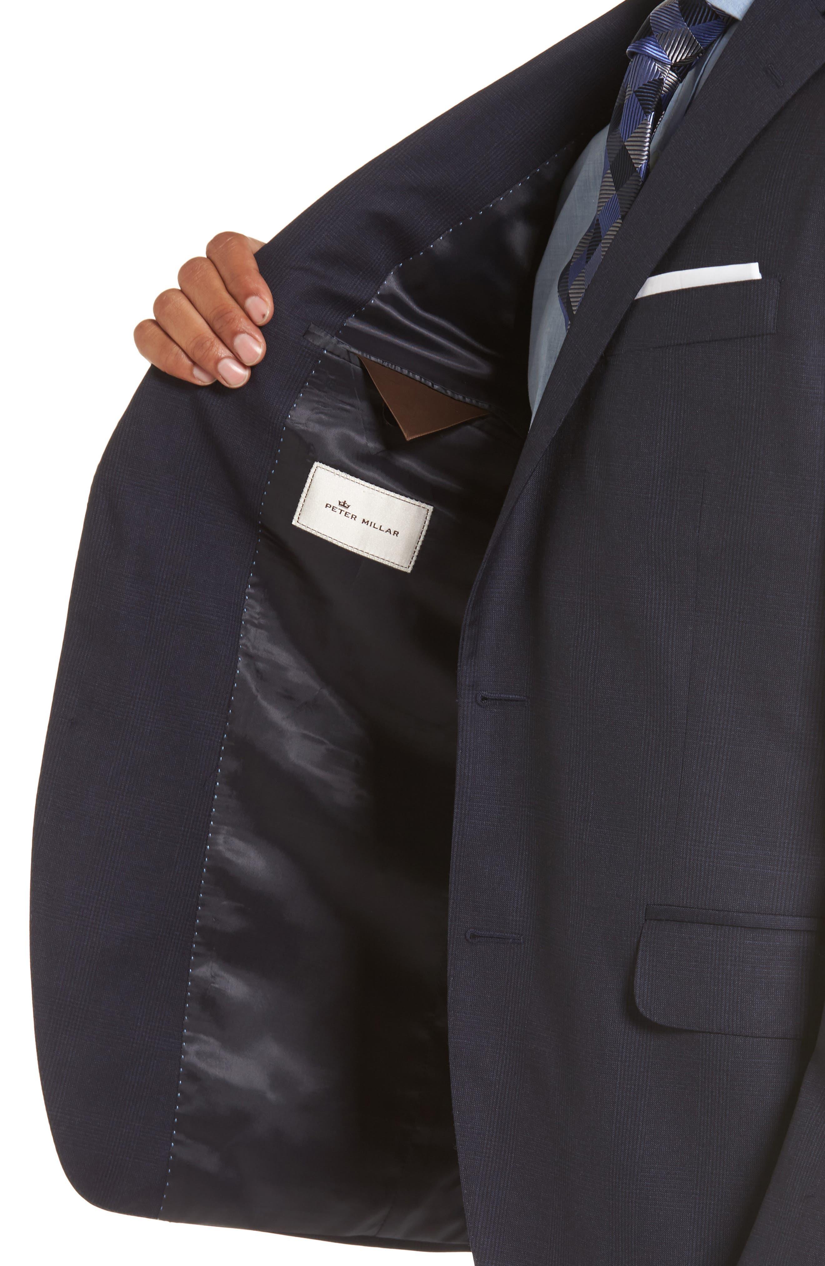 Flynn Classic Fit Plaid Wool Suit,                             Alternate thumbnail 4, color,                             410