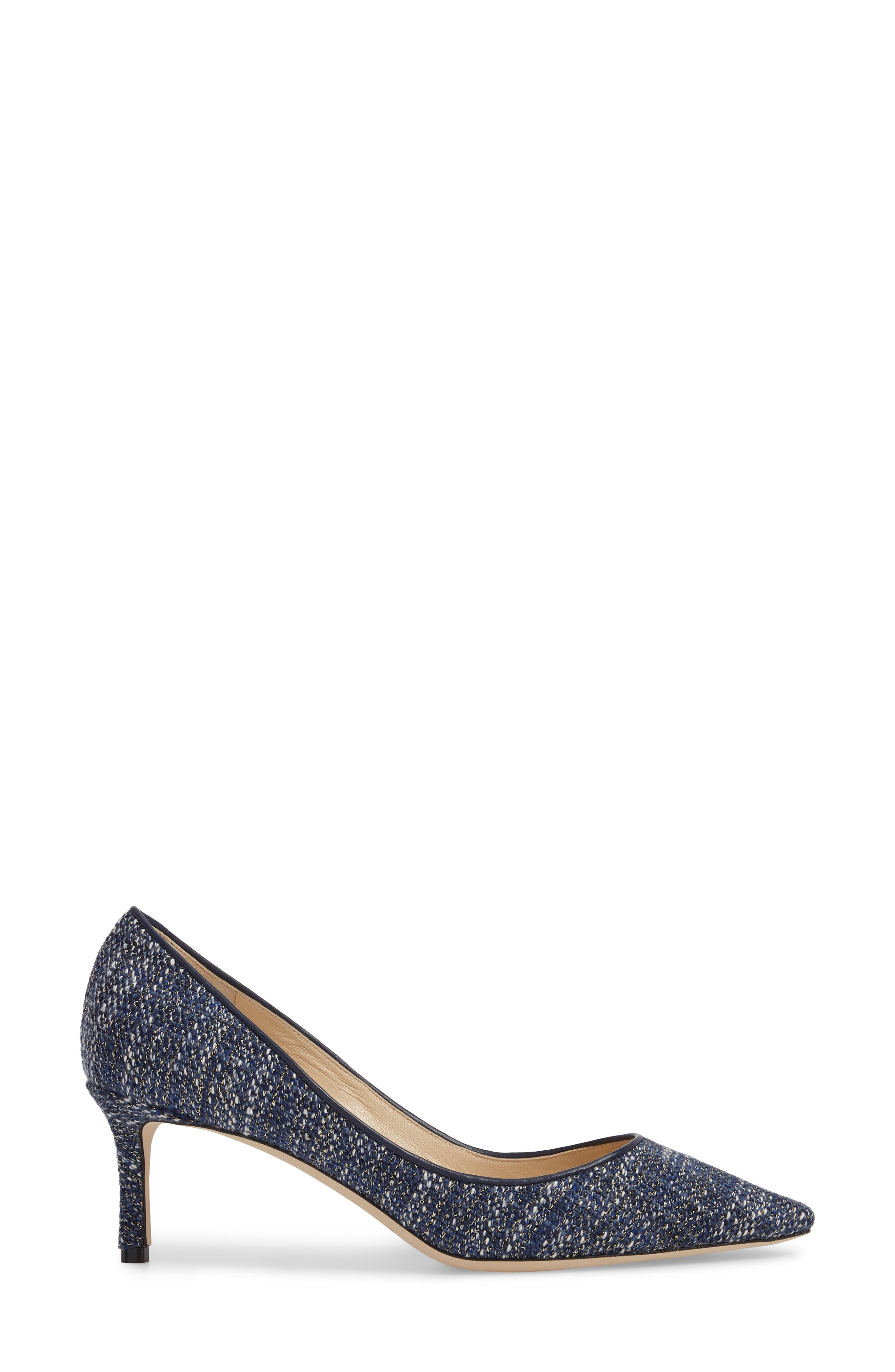 Romy Woven Pointy Toe Pump,                             Alternate thumbnail 3, color,                             410