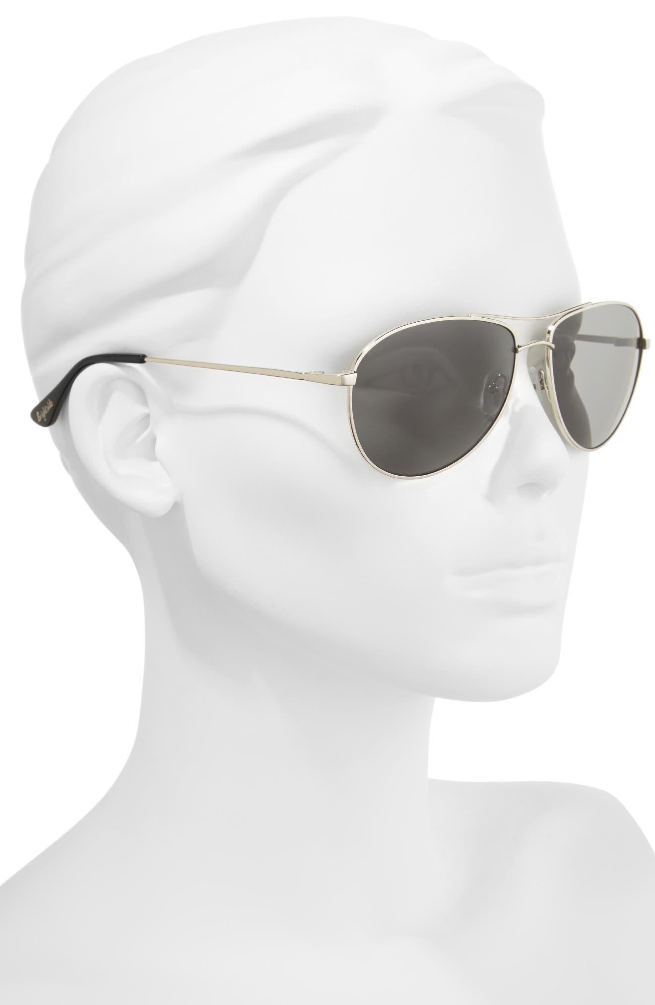 Orville 58mm Polarized Aviator Sunglasses,                             Alternate thumbnail 3, color,