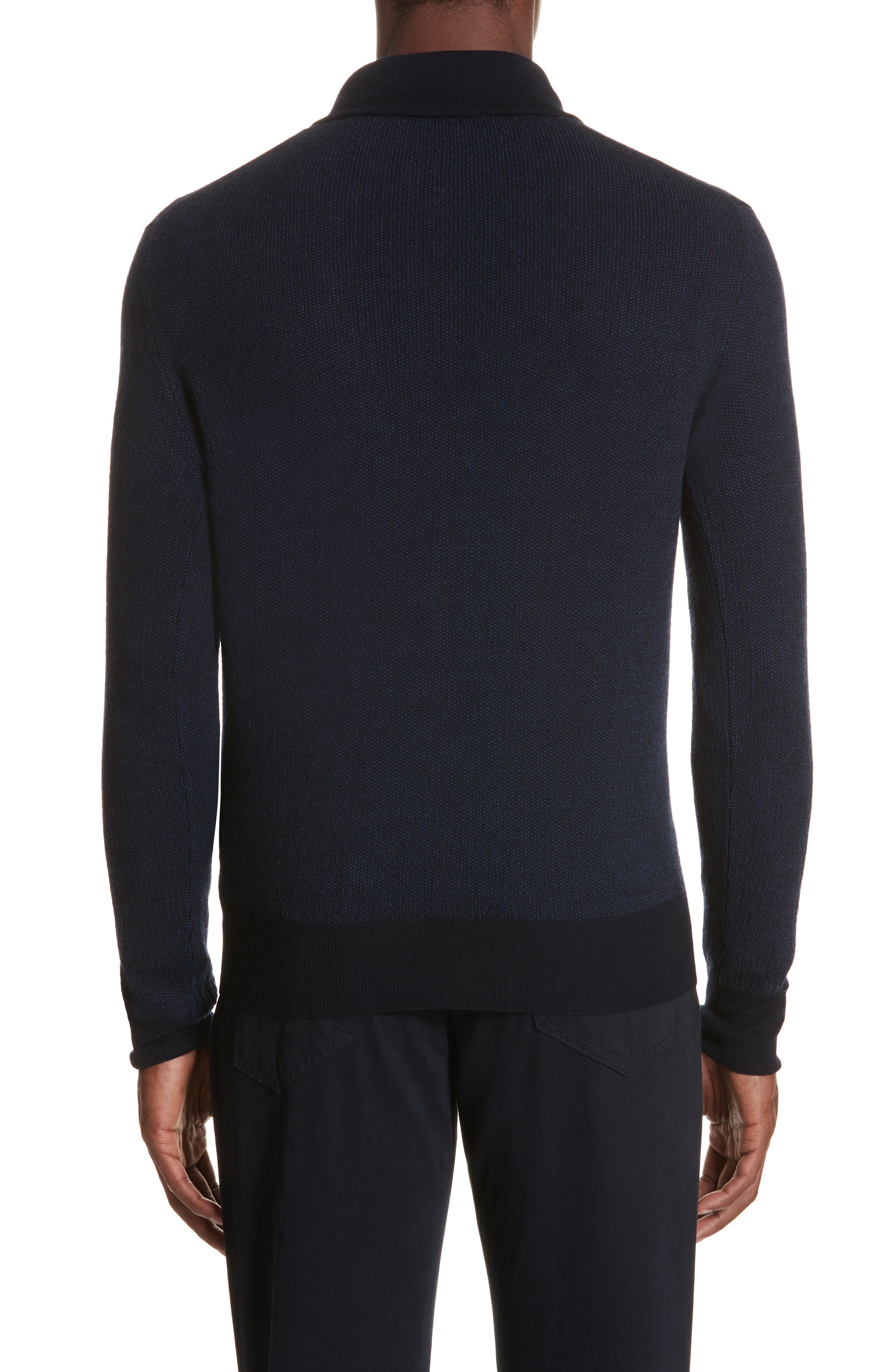 Quarter Zip Wool Sweater,                             Alternate thumbnail 2, color,                             400