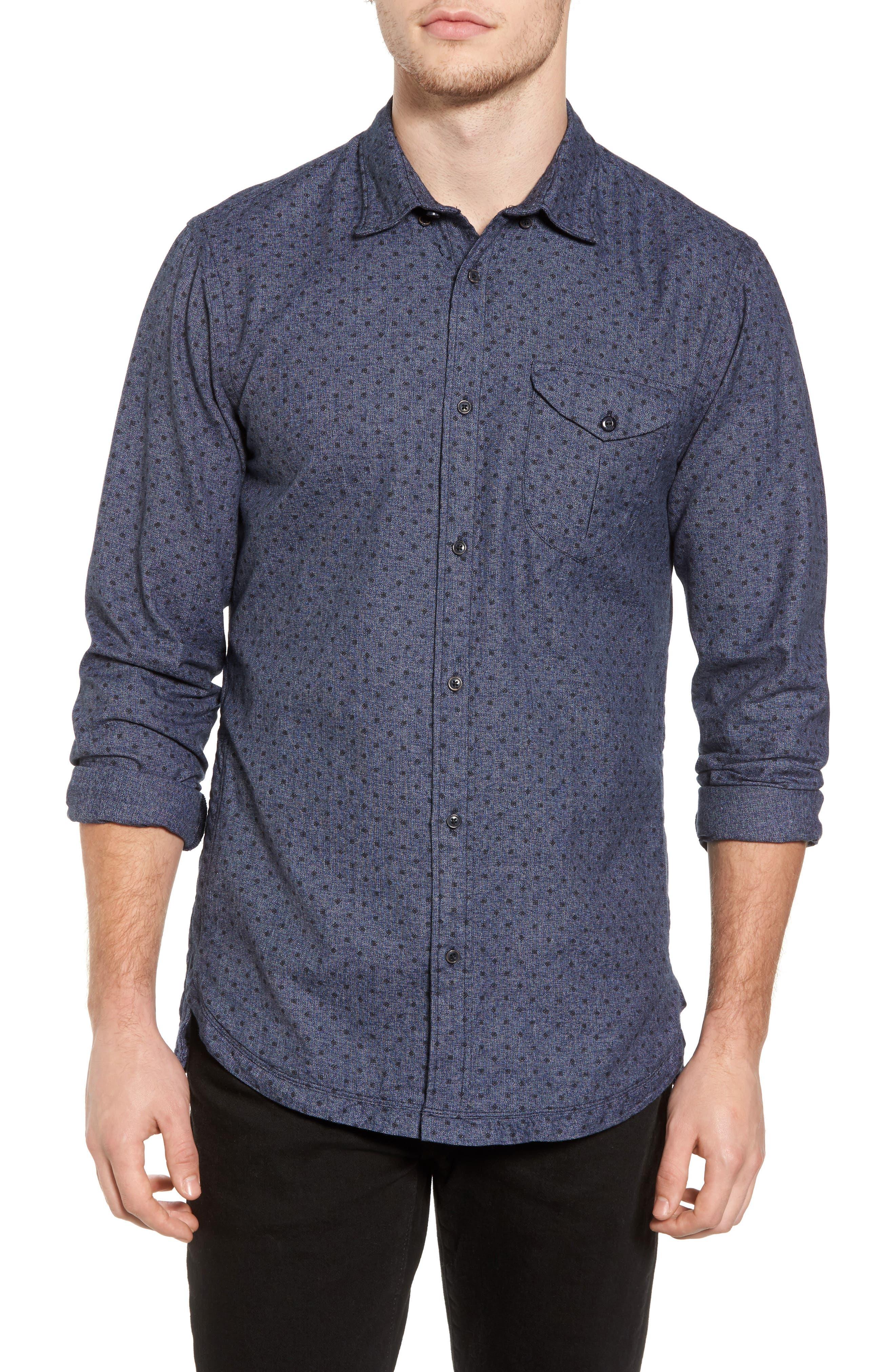 Classic Fit Print Shirt,                         Main,                         color, 410
