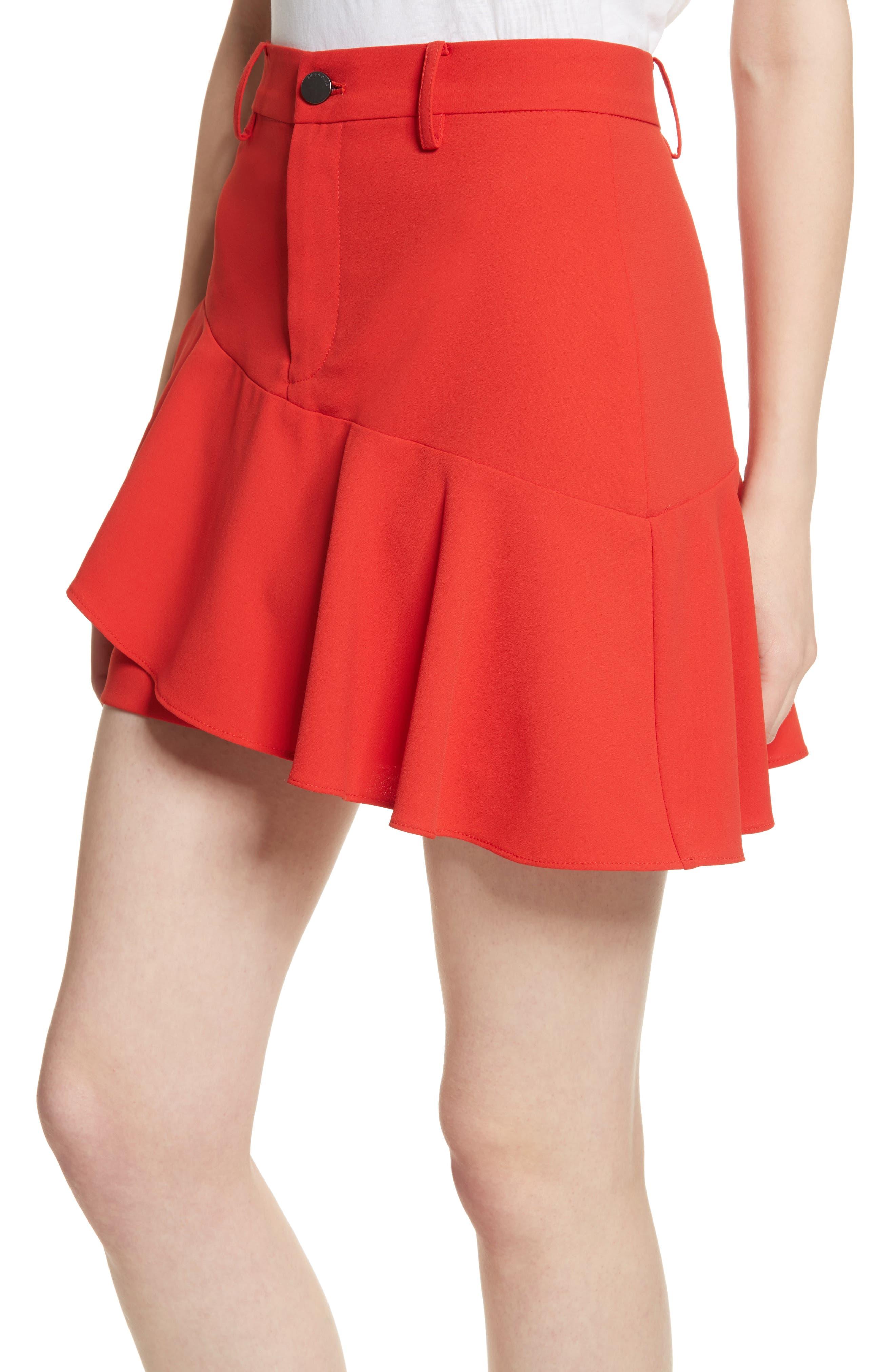 Nisa Ruffle Miniskirt,                             Alternate thumbnail 4, color,                             612