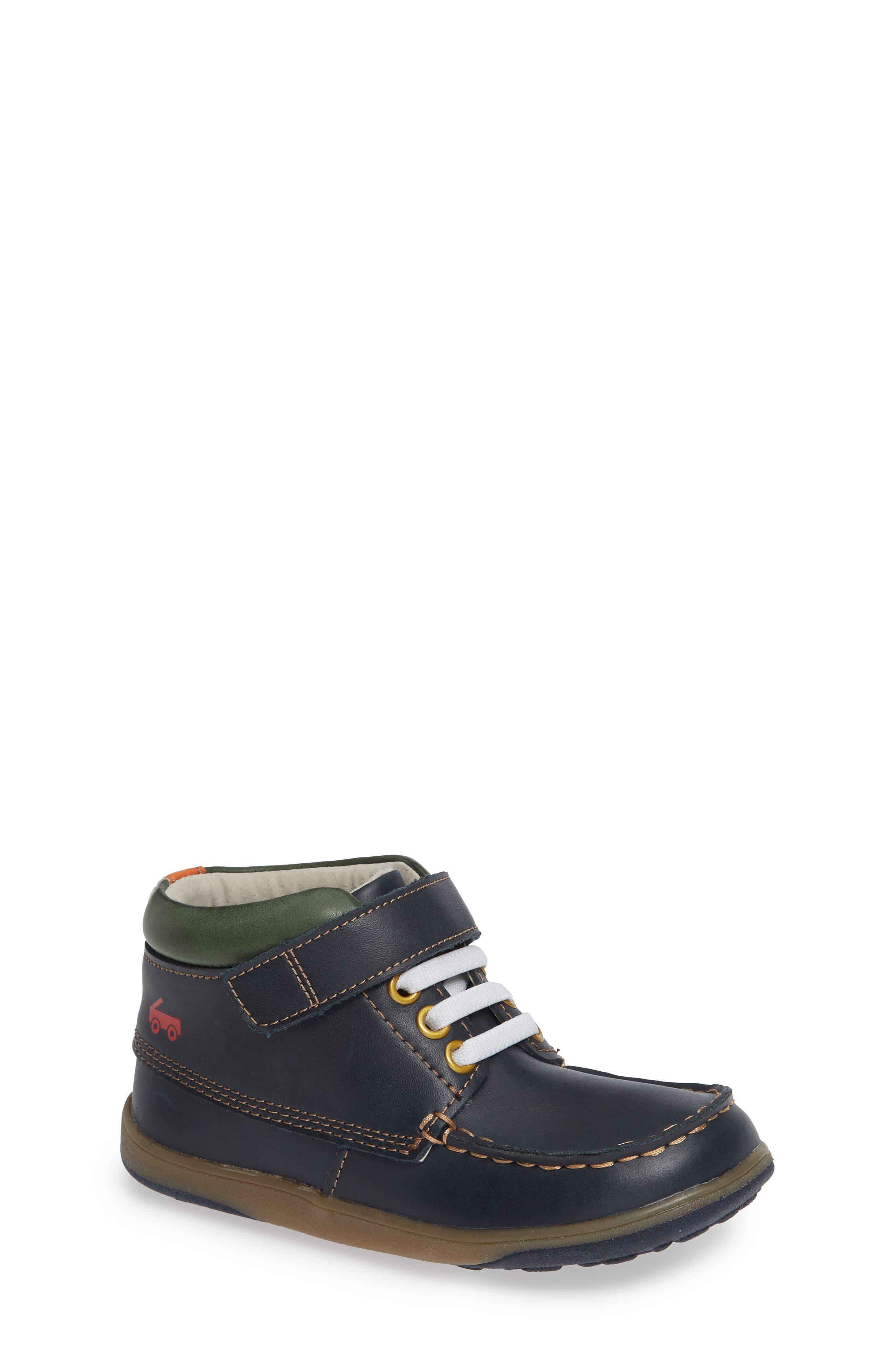 Owen High Top Sneaker Bootie,                             Main thumbnail 1, color,                             NAVY