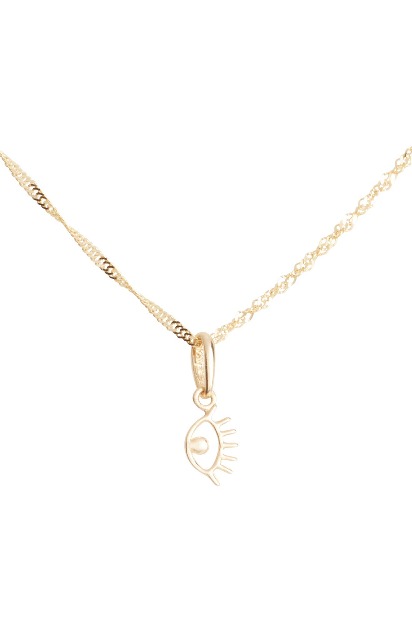 Eye Charm Short Pendant Necklace,                         Main,                         color, 710