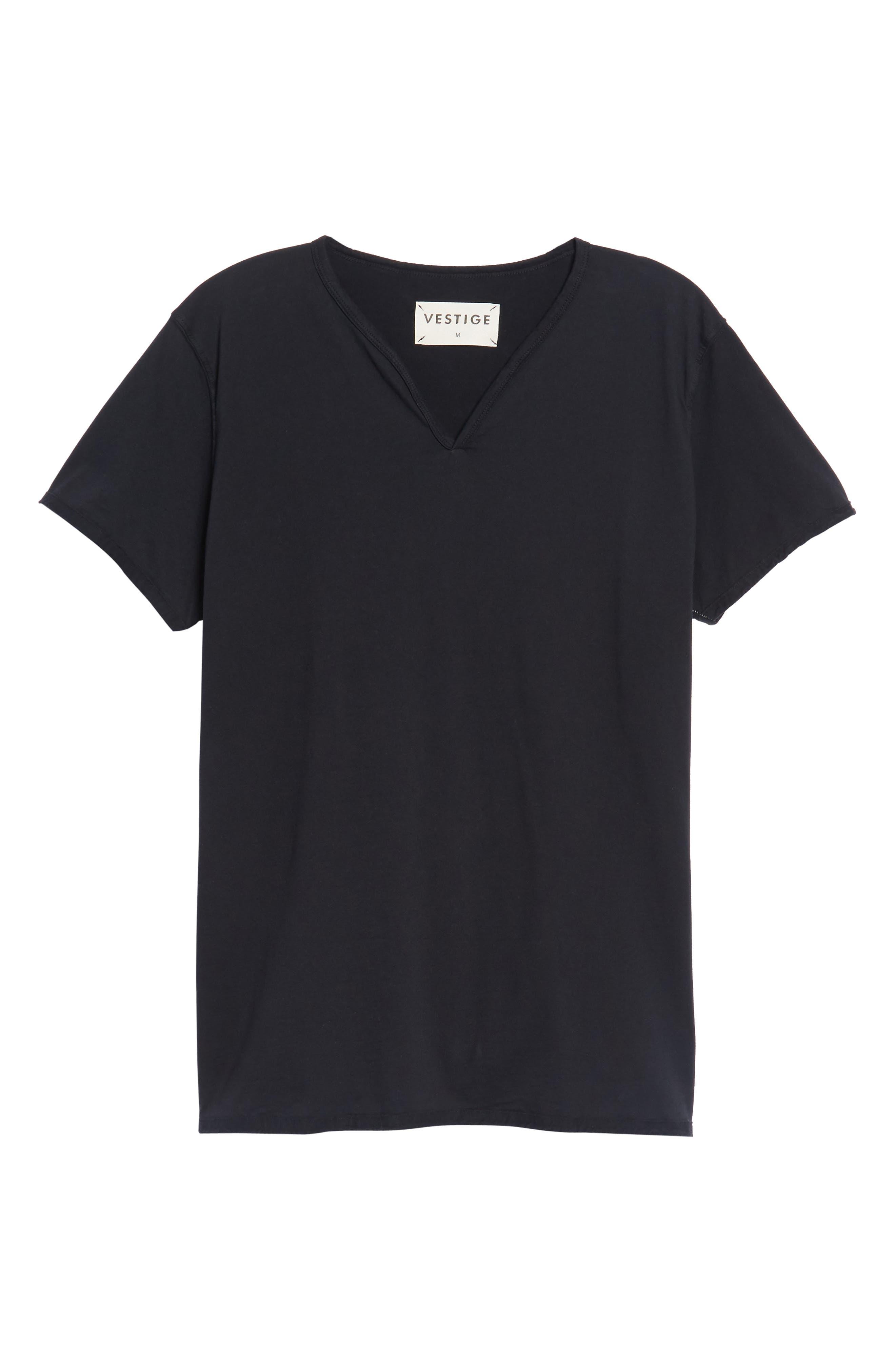 Notch Henley T-Shirt,                             Alternate thumbnail 6, color,                             001