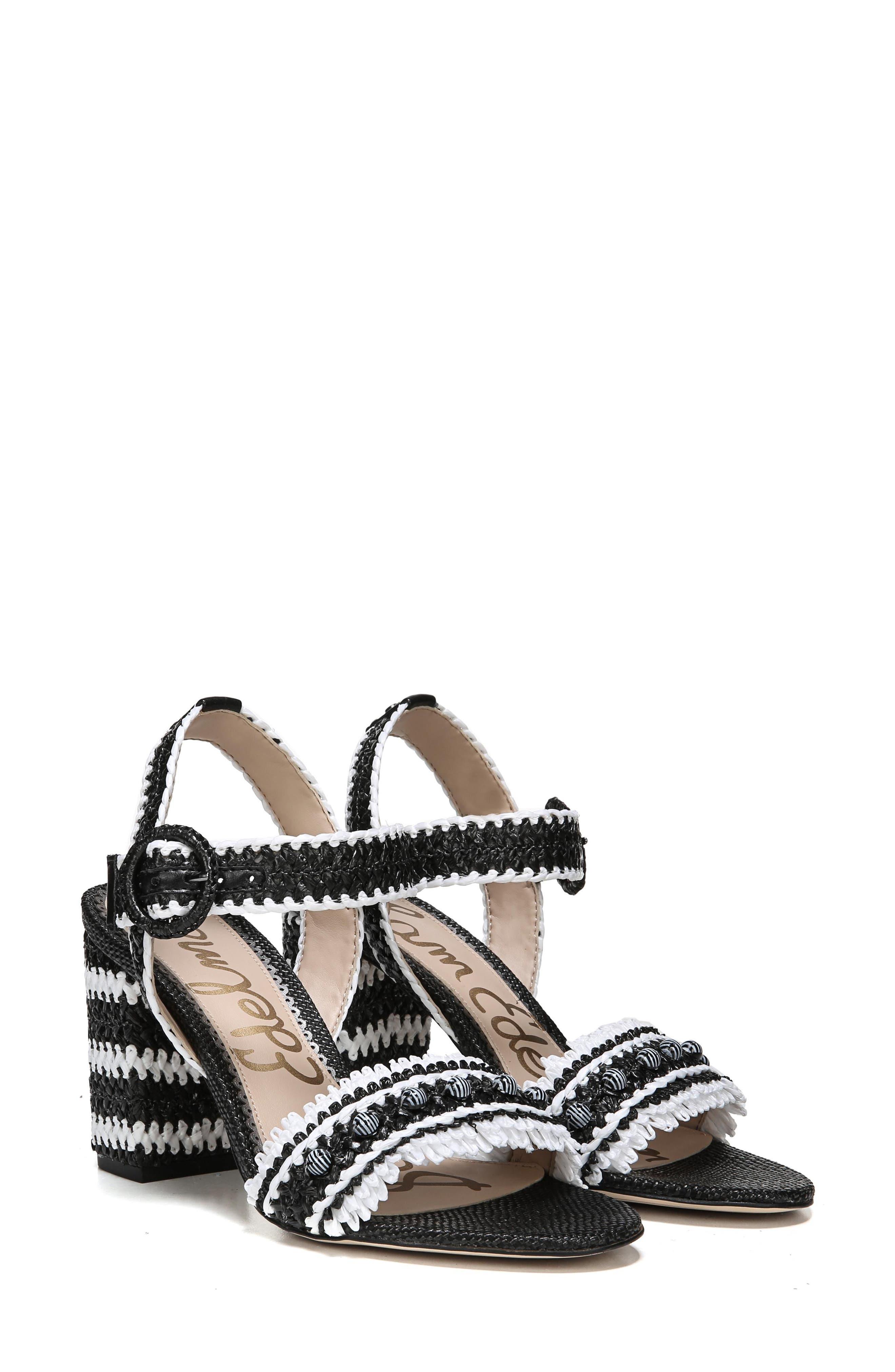 Olisa Block Heel Sandal,                             Alternate thumbnail 8, color,                             001