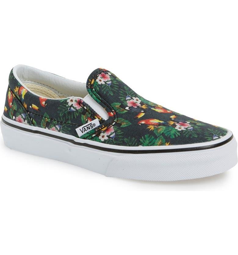 eab6efe7e9036a Vans  Classic  Tropical Print Slip-On Sneaker (Baby