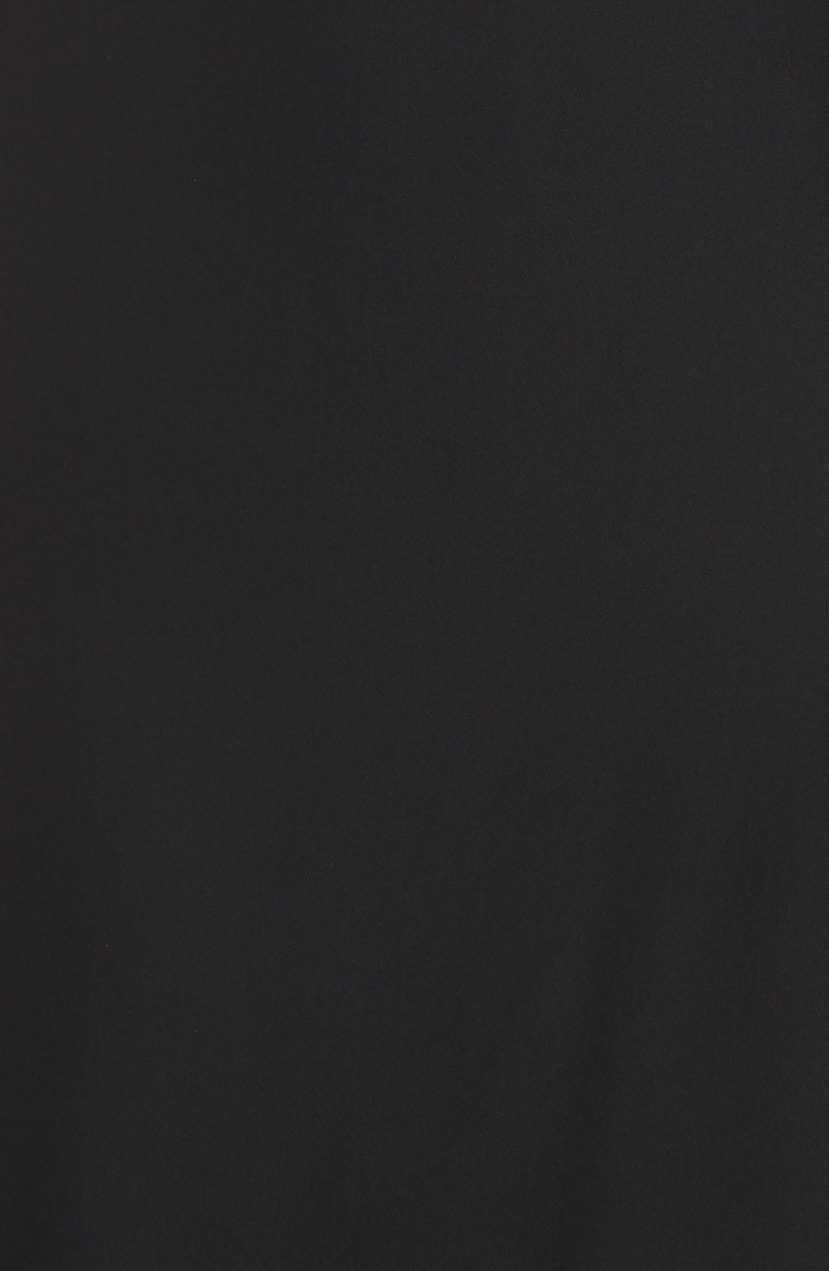 One-Shoulder Crepe Gown,                             Alternate thumbnail 6, color,                             BLACK/ NUDE