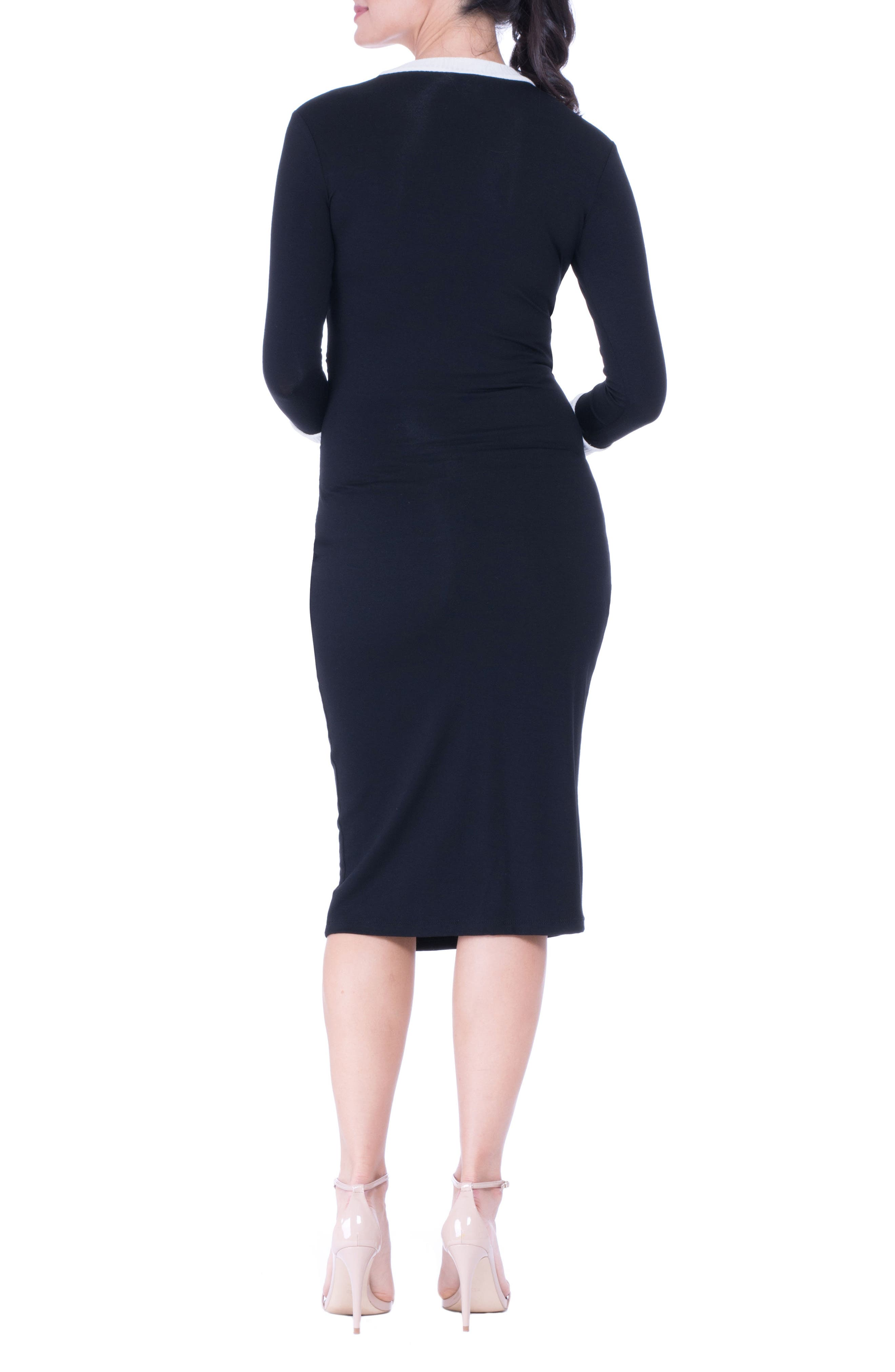 Maternity Midi Dress,                             Alternate thumbnail 2, color,