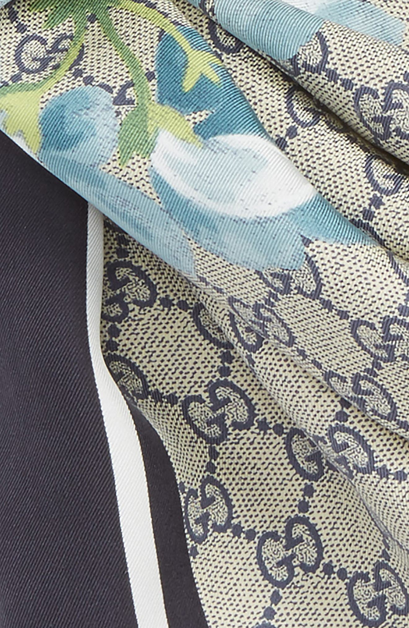 GG Blooms Foulard Scarf,                             Alternate thumbnail 3, color,                             400