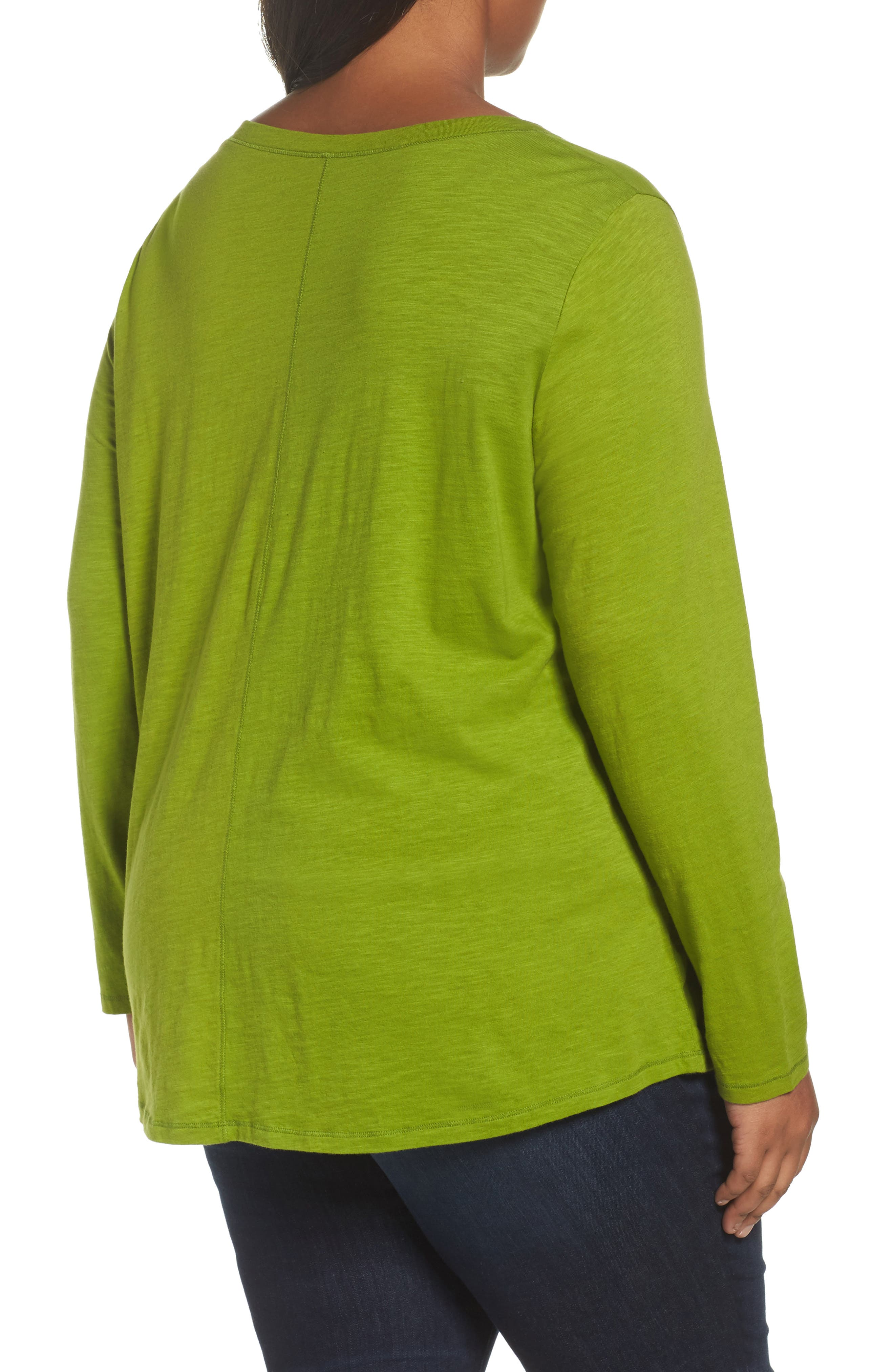 Organic Cotton V-Neck Top,                             Alternate thumbnail 10, color,