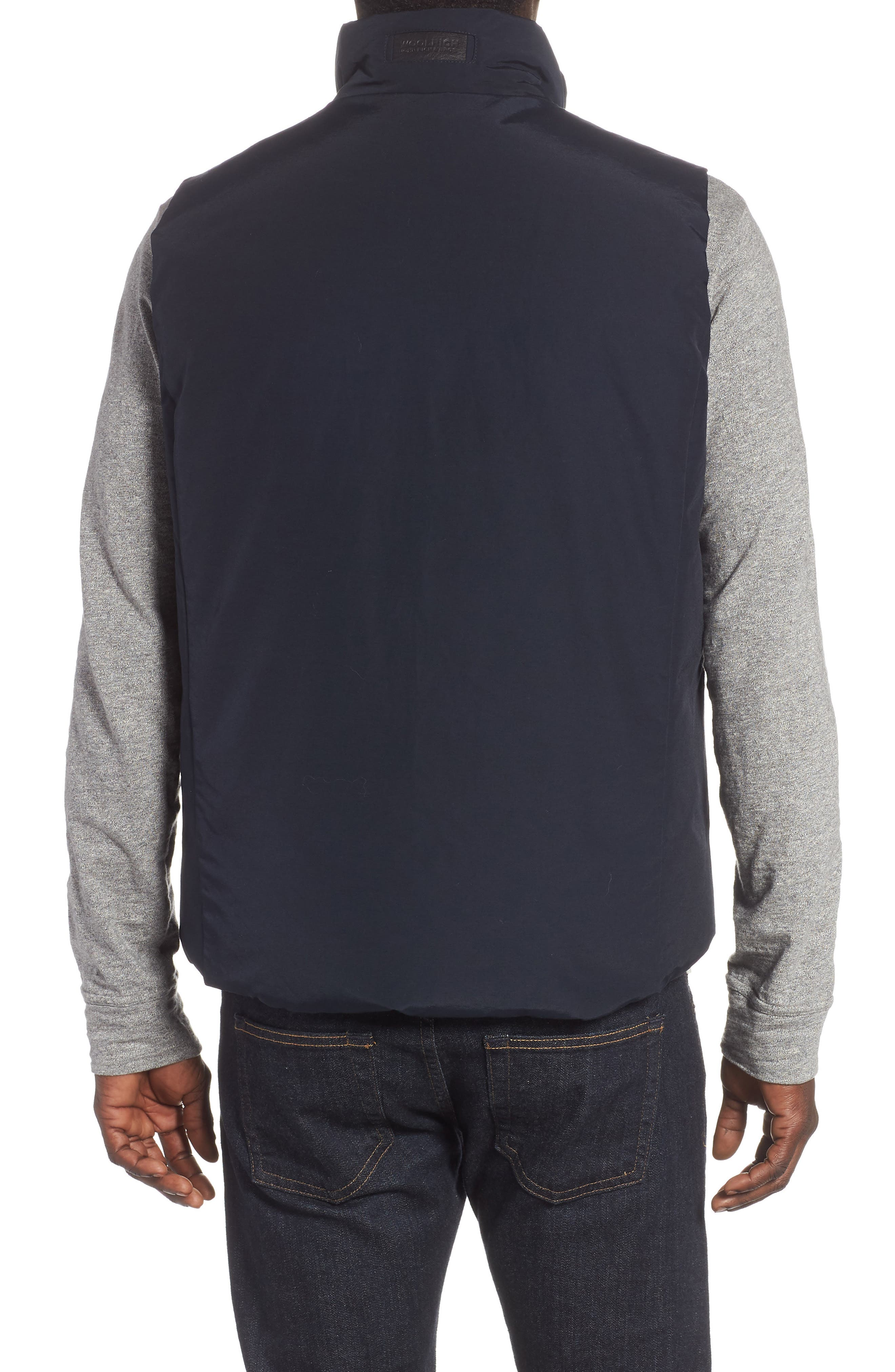 Reversible Down Regular Fit Vest,                             Alternate thumbnail 3, color,                             MELTON BLUE