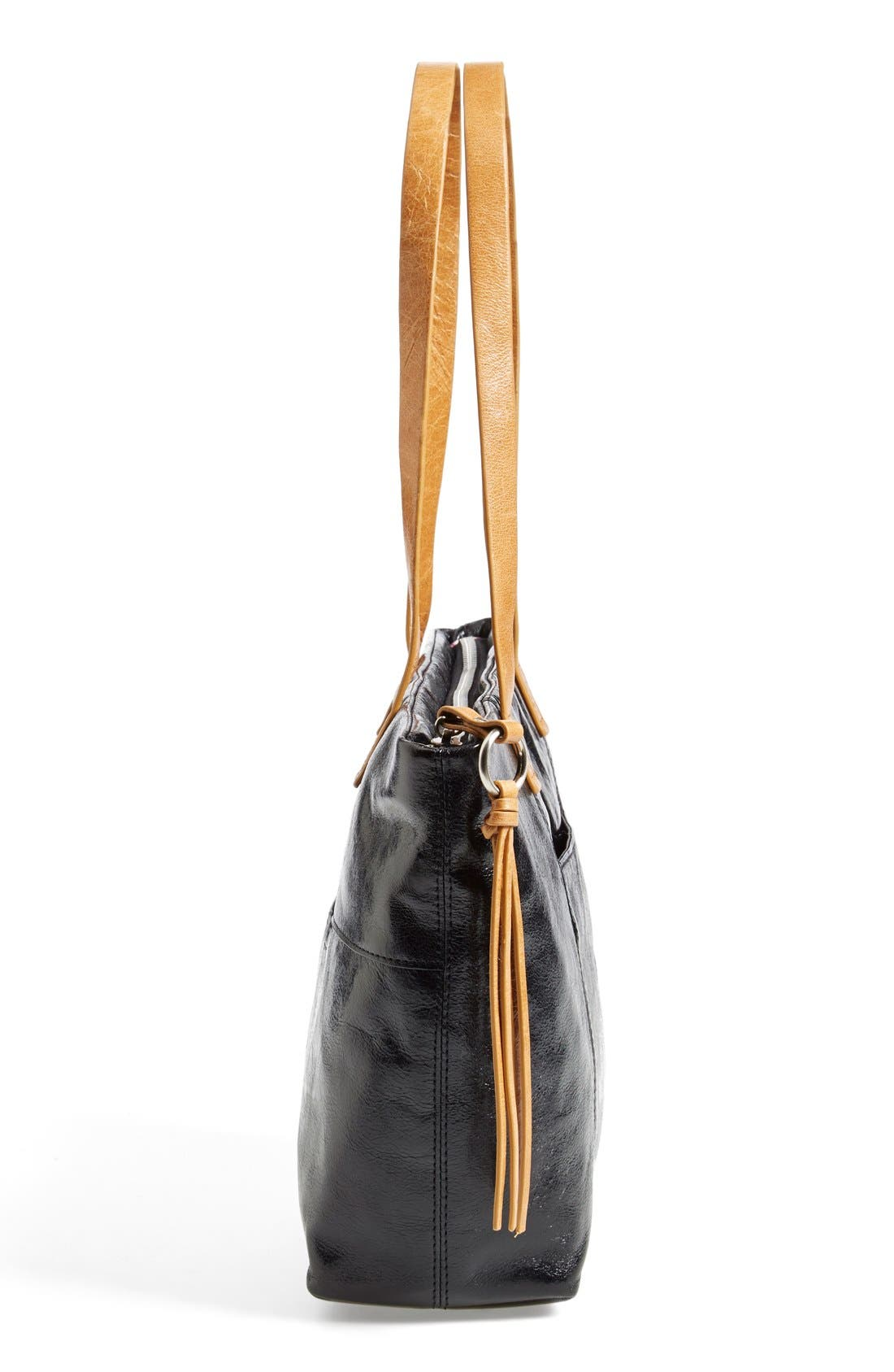 'Cecily' Mini Leather Tote,                             Alternate thumbnail 6, color,                             001