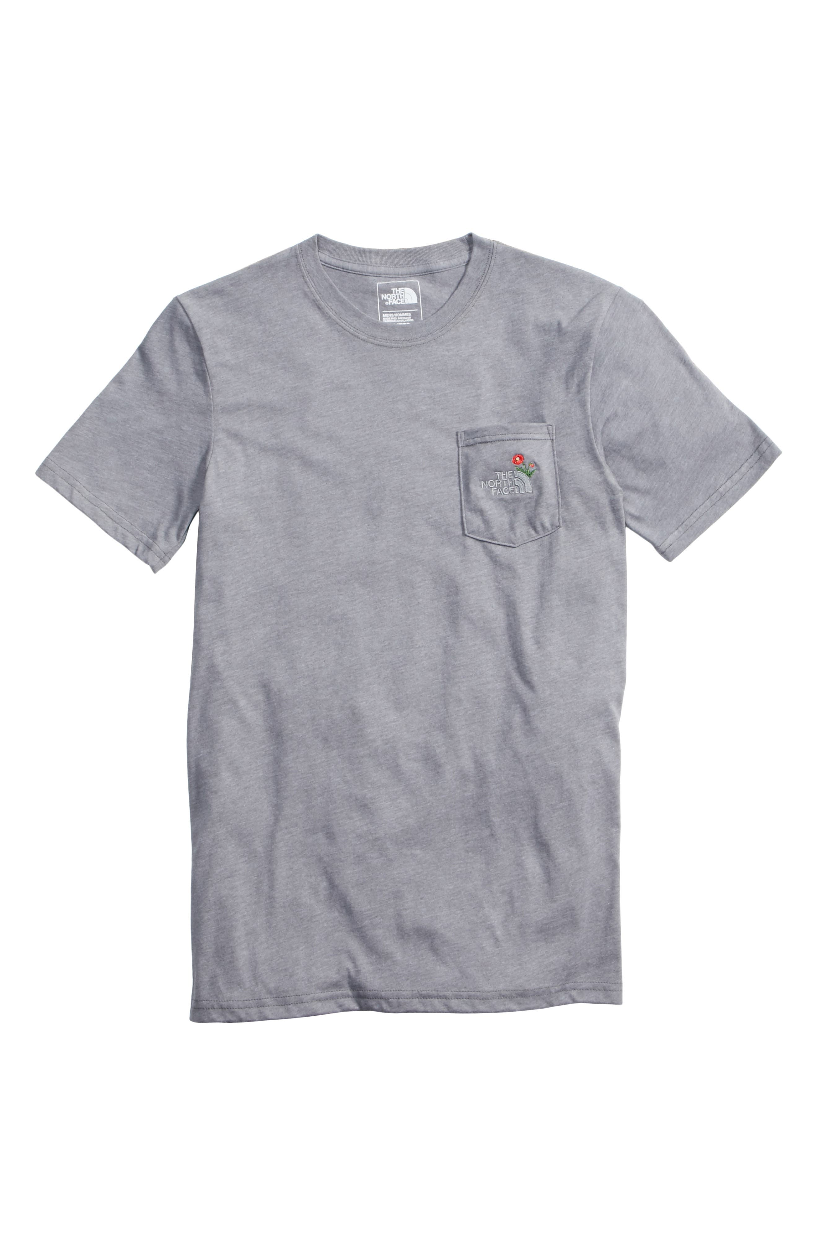 Unisex Pocket T-Shirt,                             Alternate thumbnail 6, color,                             030