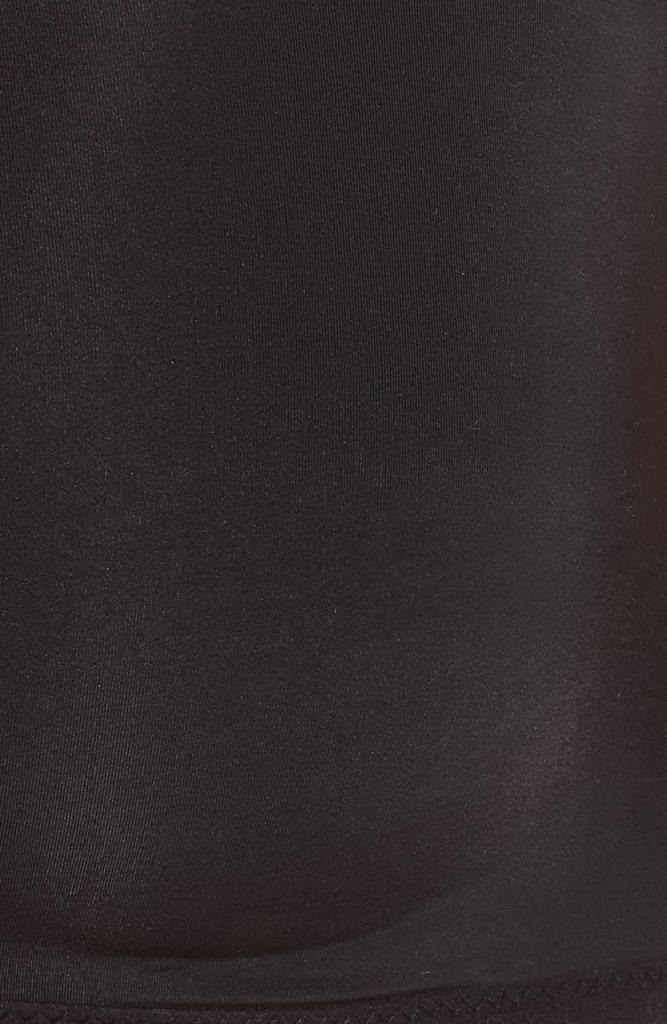 Marta Mesh Trim Wireless T-Shirt Bra,                             Alternate thumbnail 7, color,                             TRUE BLACK