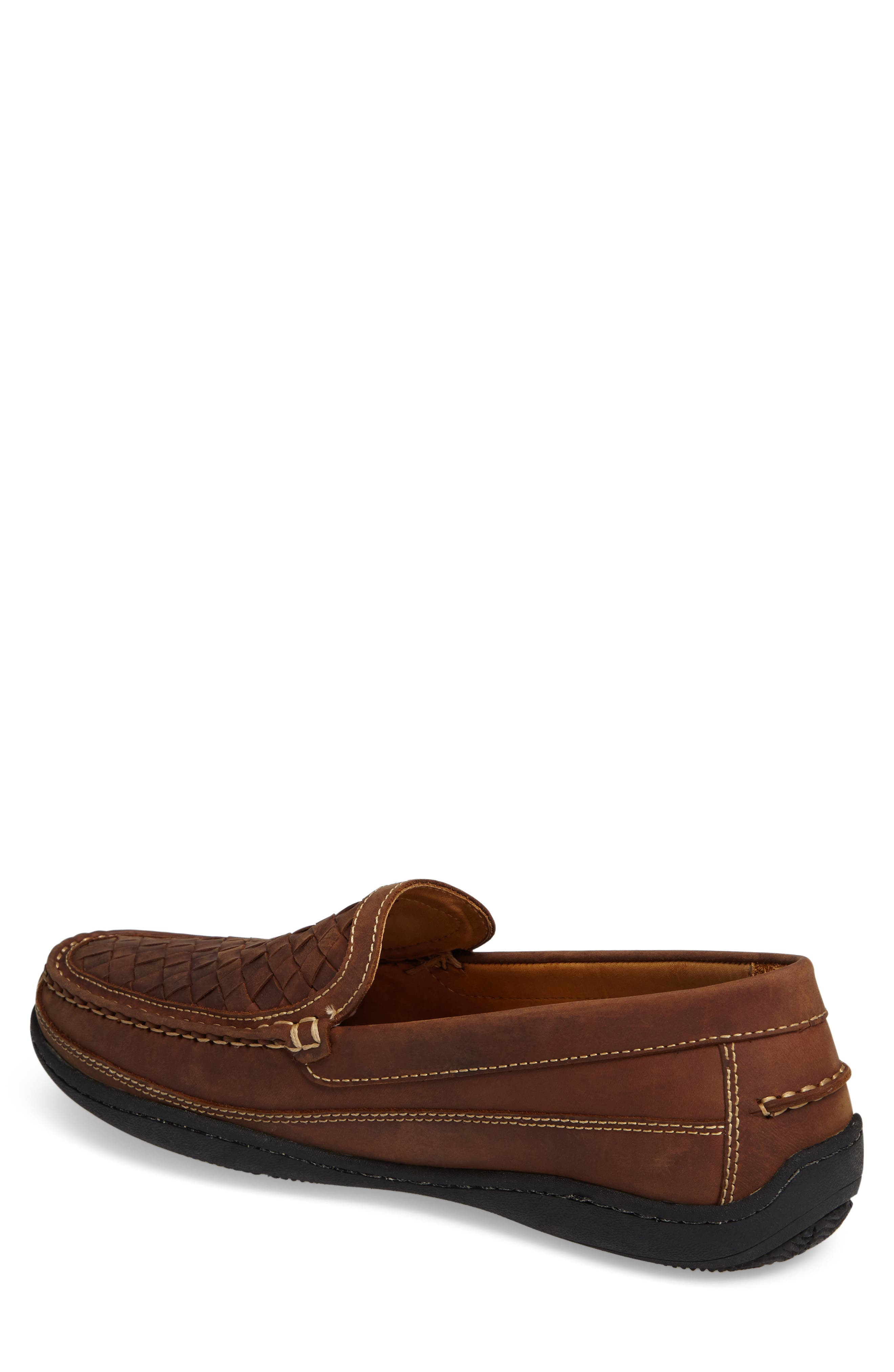 JOHNSTON & MURPHY,                             Fowler Woven Loafer,                             Alternate thumbnail 2, color,                             TAN LEATHER