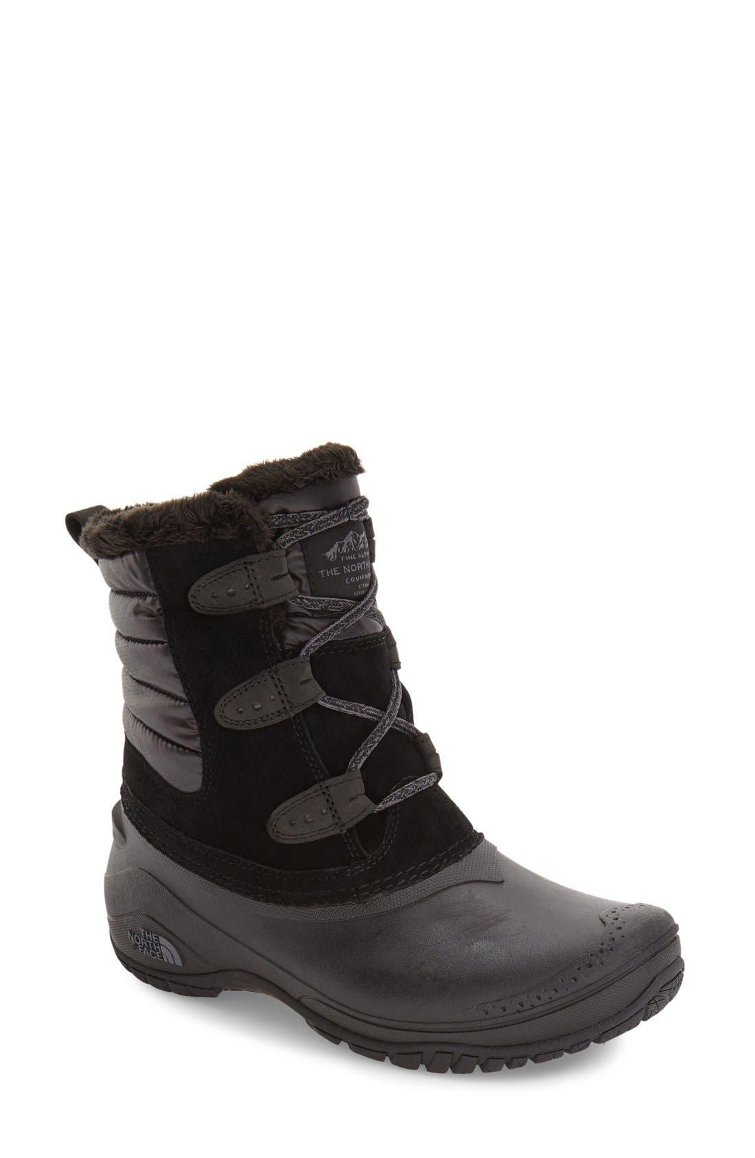 Shellista II Waterproof Boot,                             Main thumbnail 1, color,                             BLACK/ SMOKED PEARL GREY