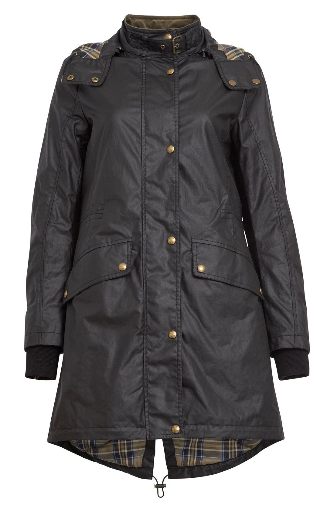 Wembury Waxed Cotton Jacket,                             Alternate thumbnail 4, color,                             001