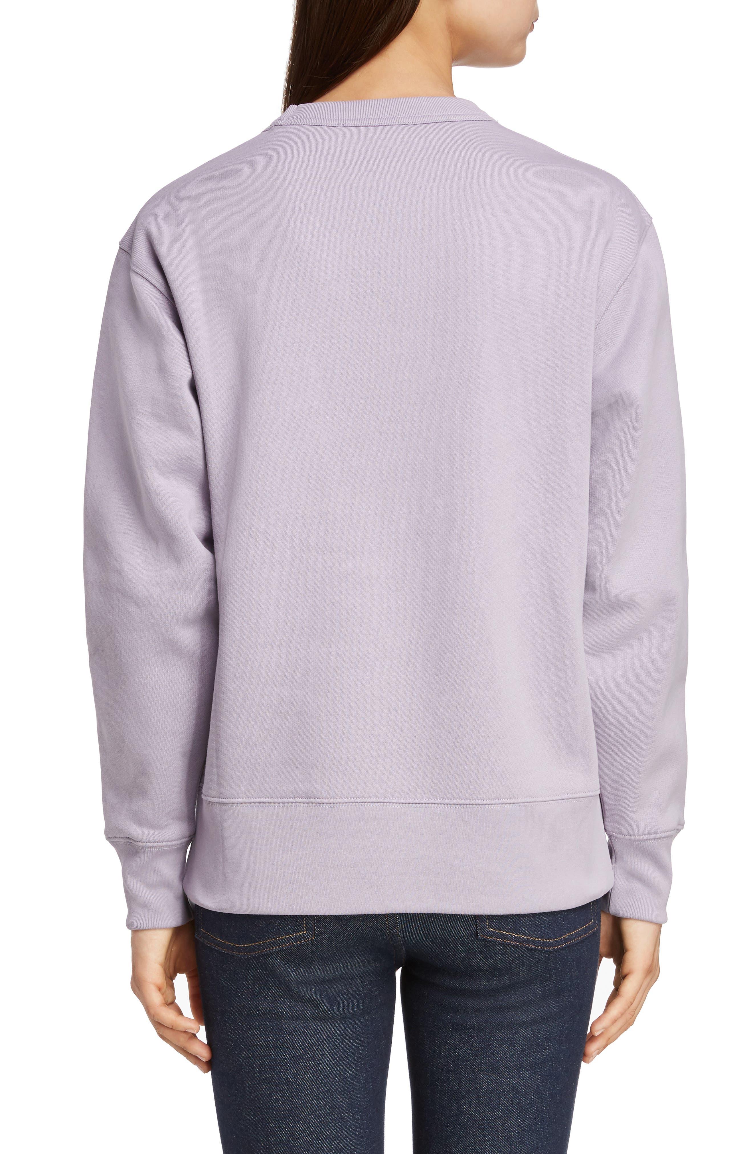 Fairview Face Sweatshirt,                             Alternate thumbnail 2, color,                             MAUVE PURPLE