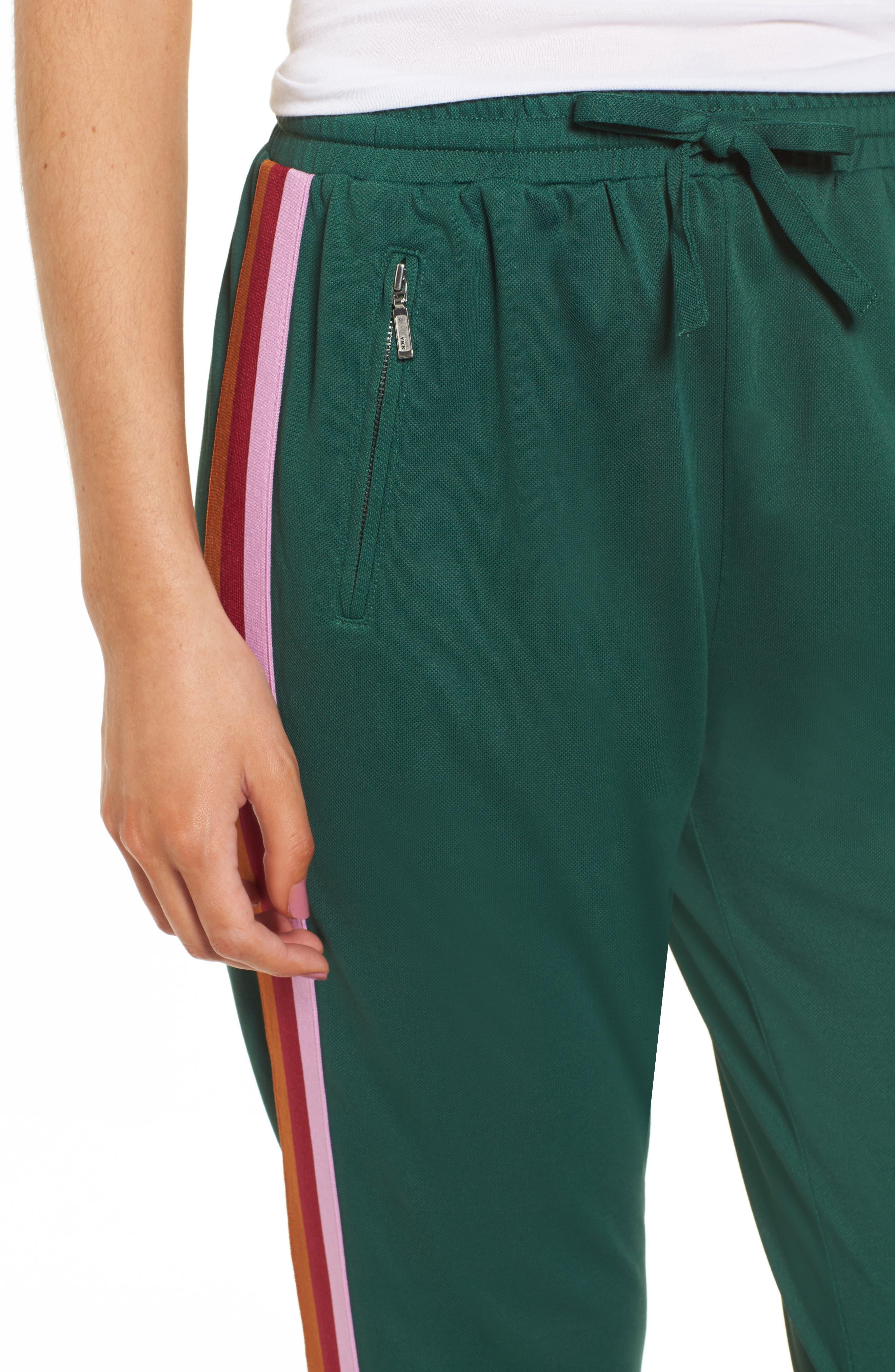 Jolie Crop Pants,                             Alternate thumbnail 4, color,                             EDEN/ PINK