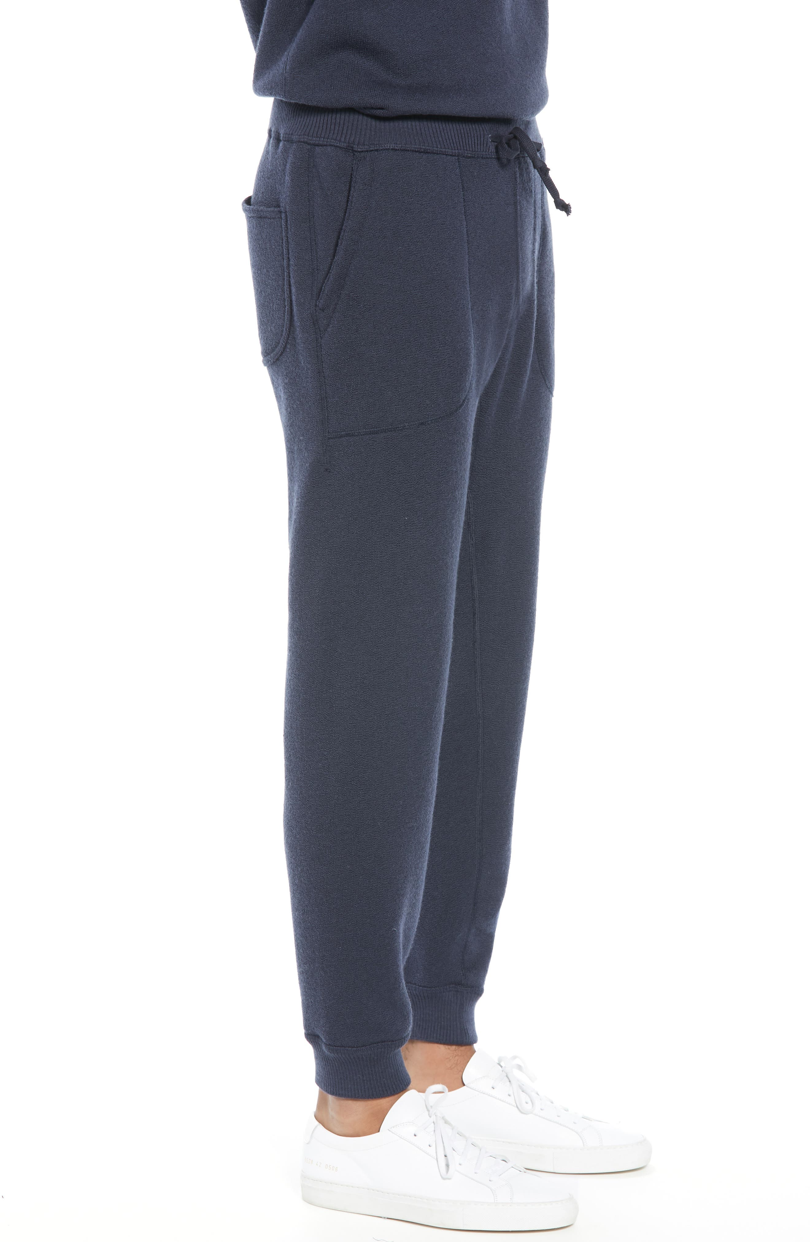 BEST MADE CO.,                             The Merino Wool Fleece Sweatpants,                             Alternate thumbnail 4, color,                             NAVY