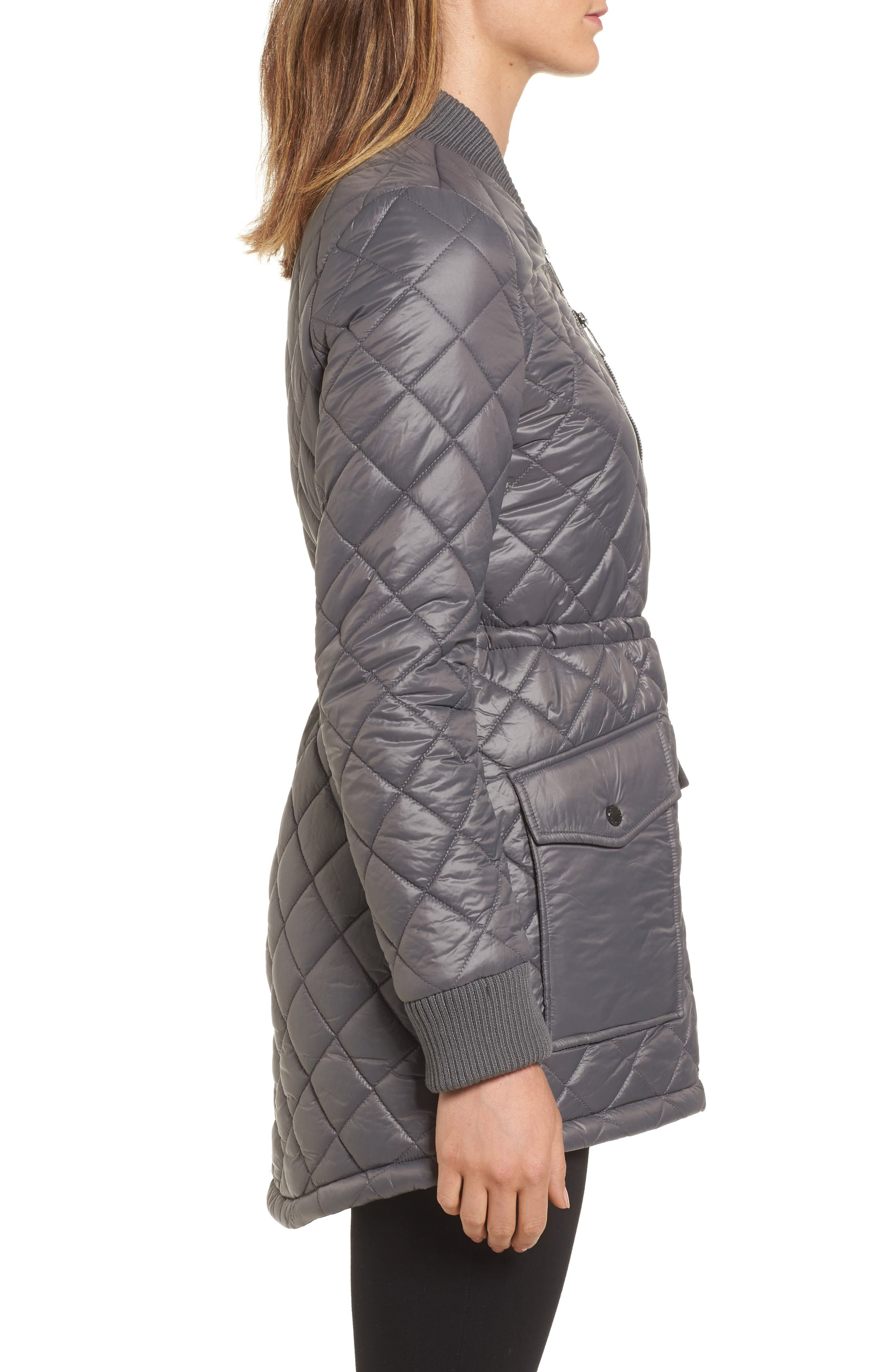 Quilted Anorak Jacket,                             Alternate thumbnail 8, color,