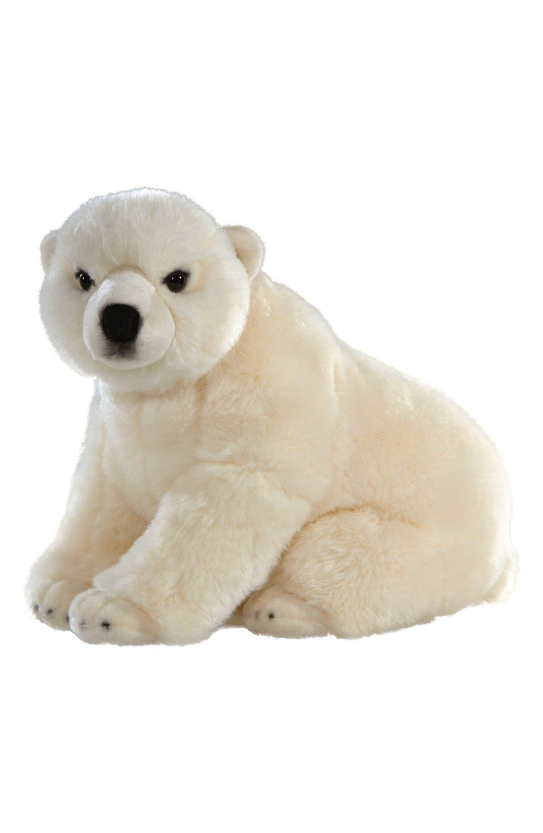 'Signature Series - Polar Bear' Stuffed Animal,                             Main thumbnail 1, color,                             WHITE