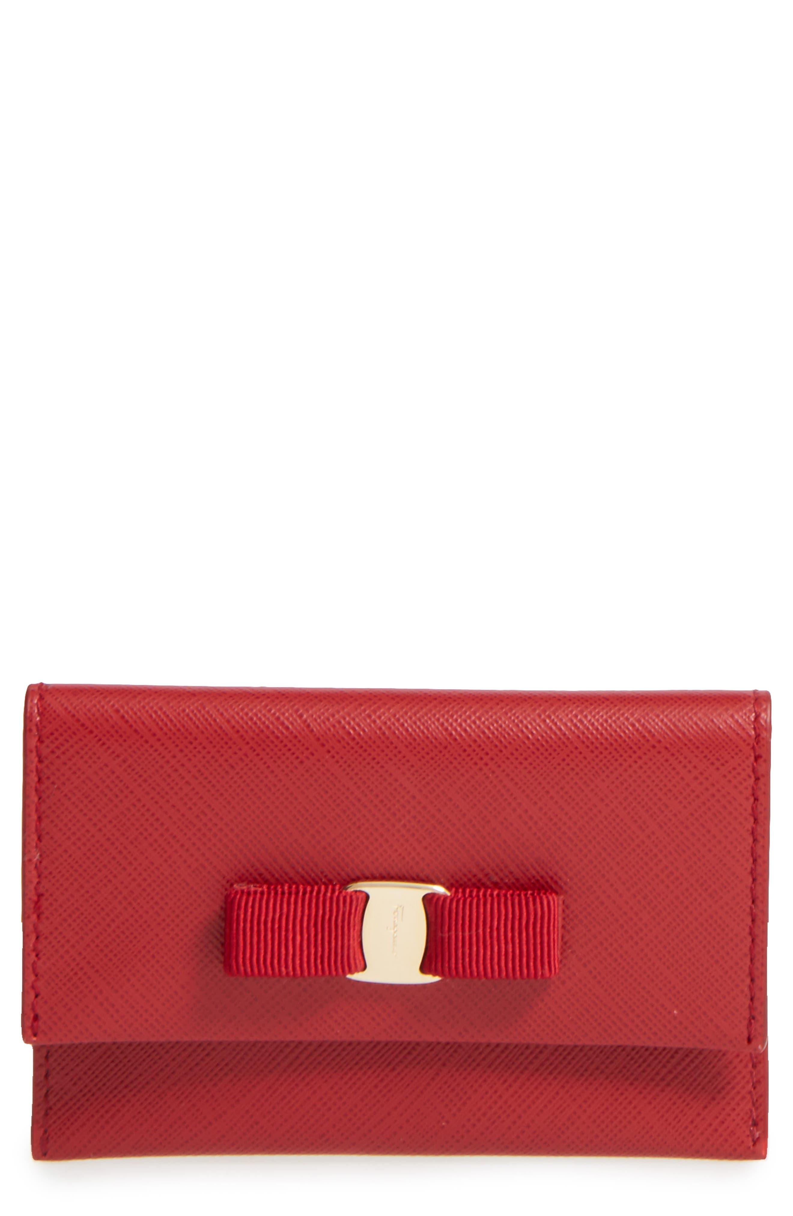 Vara Leather Card Case,                         Main,                         color, 600