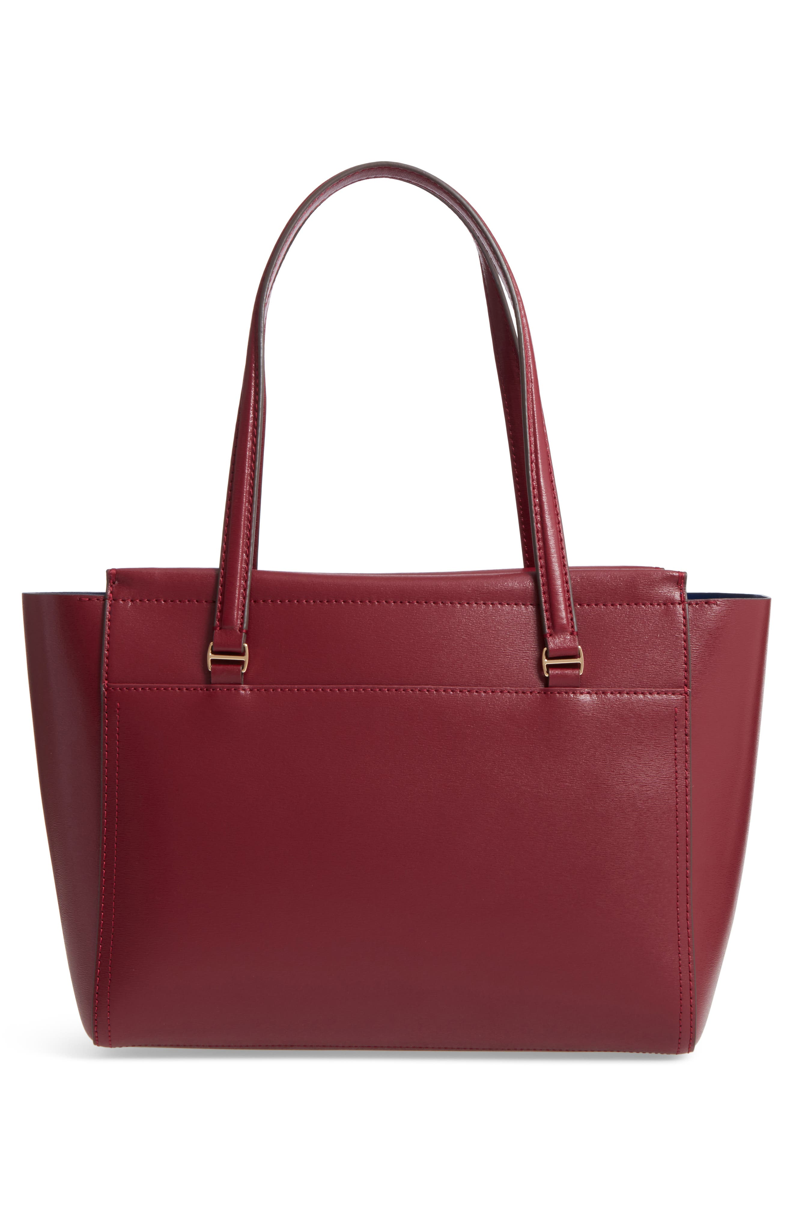 Small Parker Leather Tote,                             Alternate thumbnail 3, color,                             930