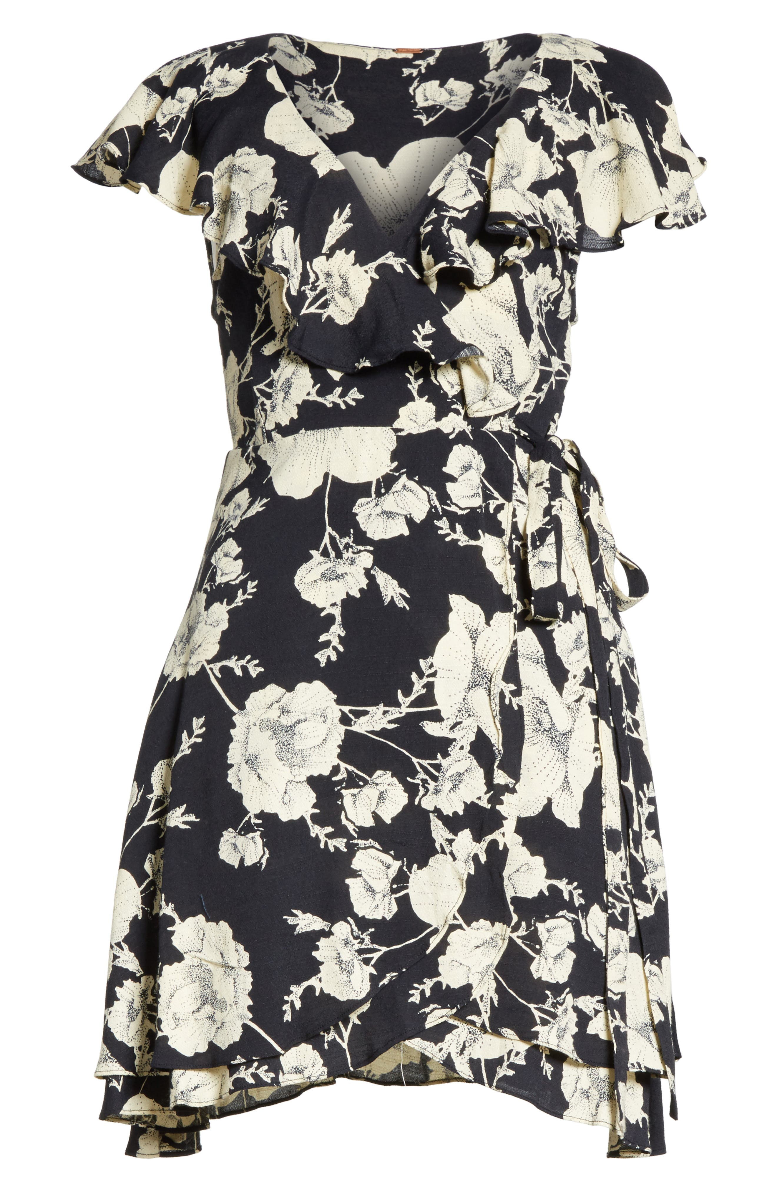 French Quarter Print Wrap Minidress,                             Alternate thumbnail 7, color,                             001