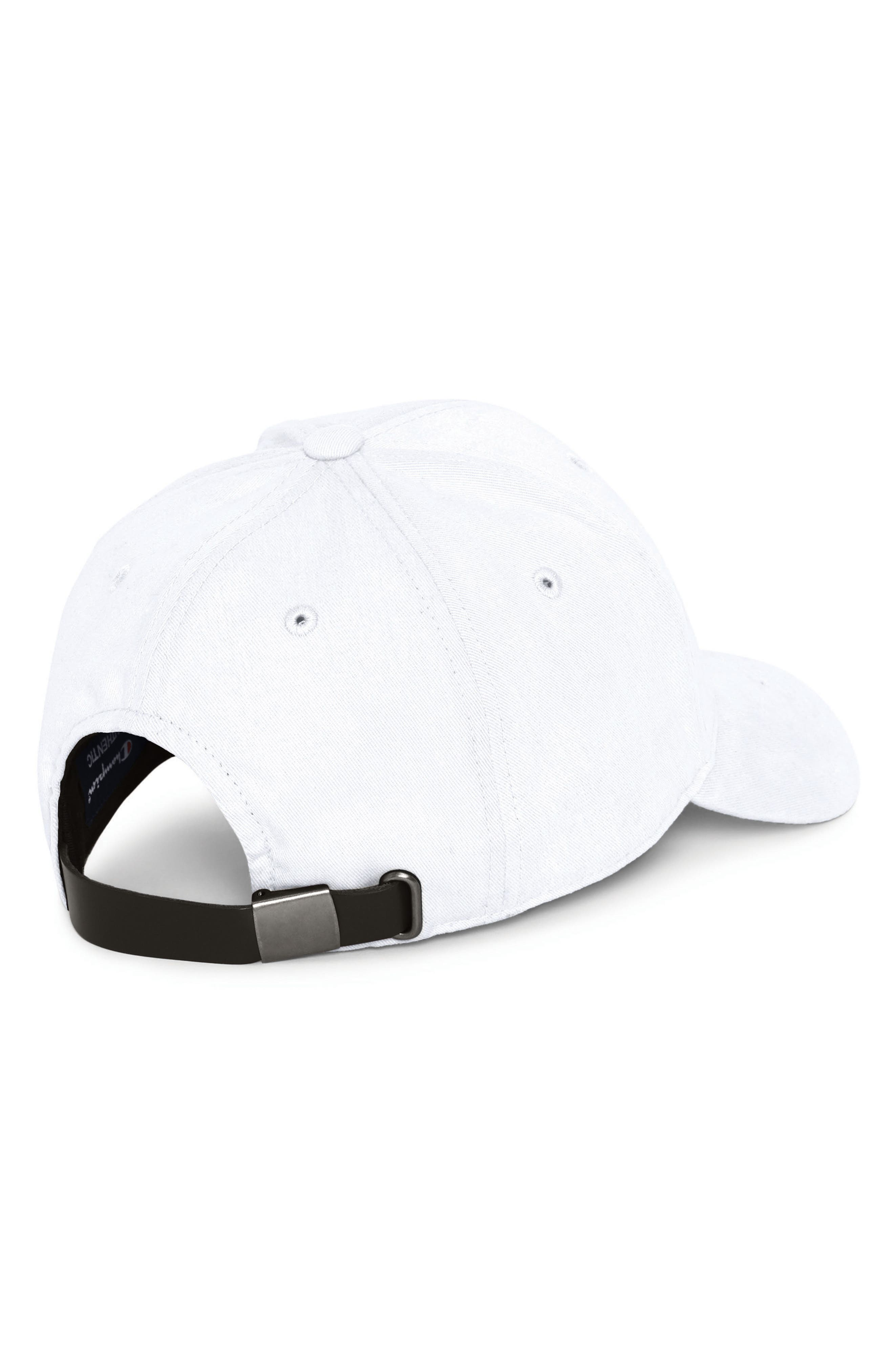 Classic Twill C-Patch Ball Cap,                             Alternate thumbnail 2, color,                             WHITE