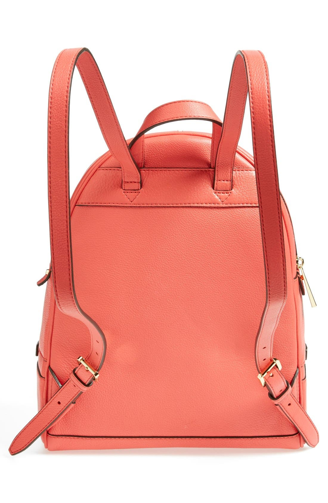 'Extra Small Rhea Zip' Leather Backpack,                             Alternate thumbnail 33, color,