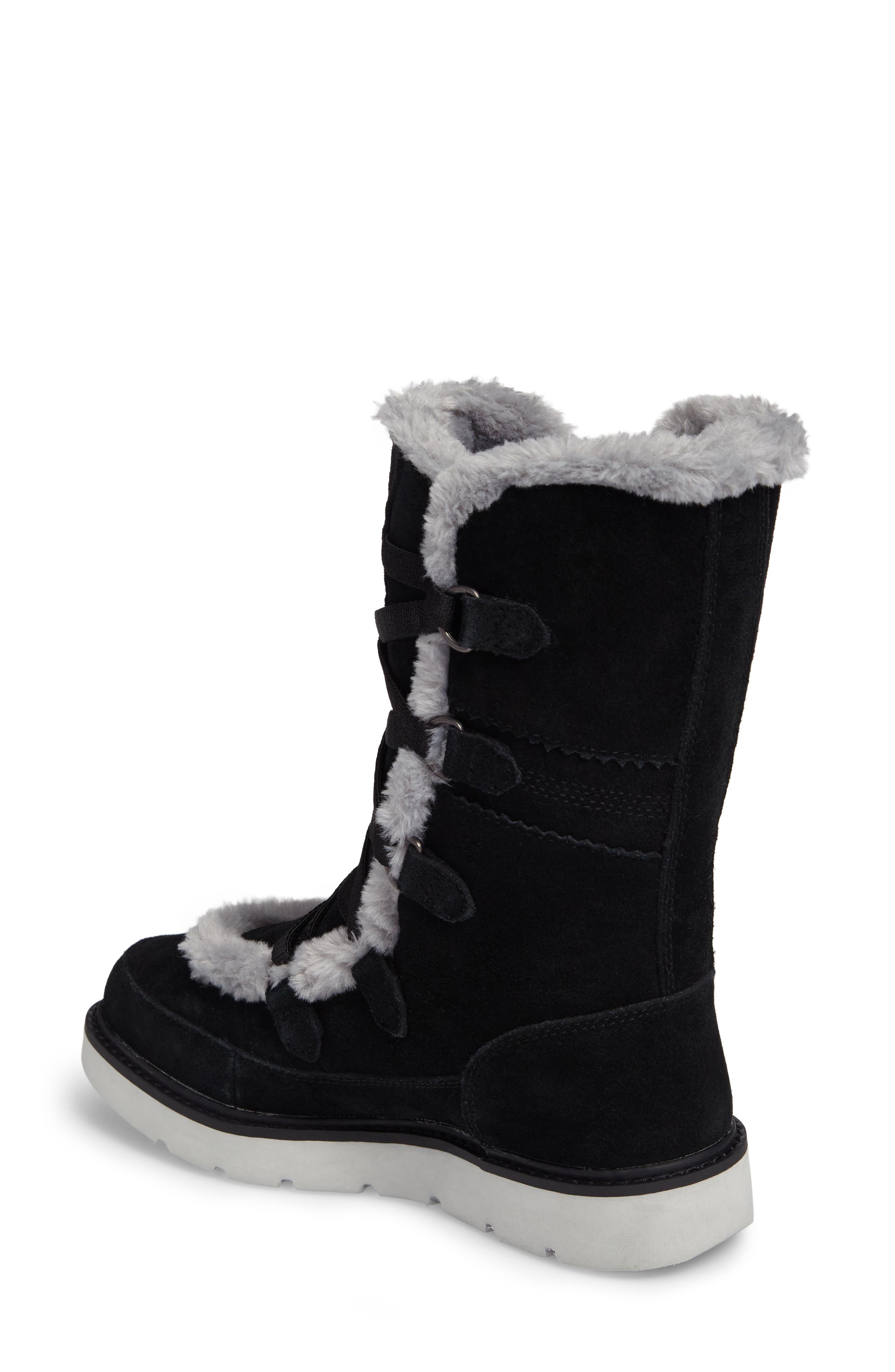 Kenniston Faux Fur Water Resistant Mukluk Boot,                             Alternate thumbnail 2, color,                             001