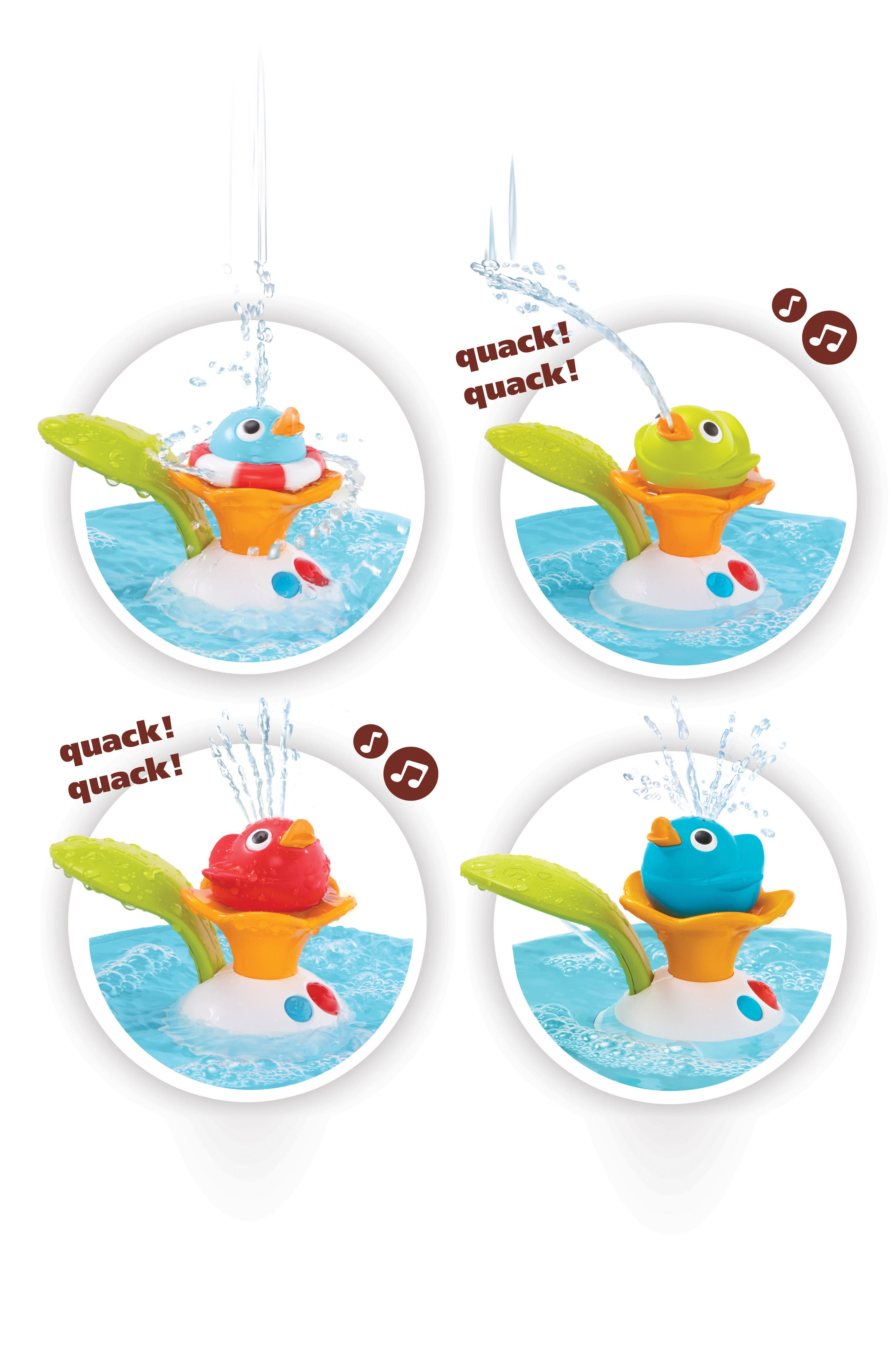 Musical Duck Race Bath Toy,                             Alternate thumbnail 5, color,                             RED