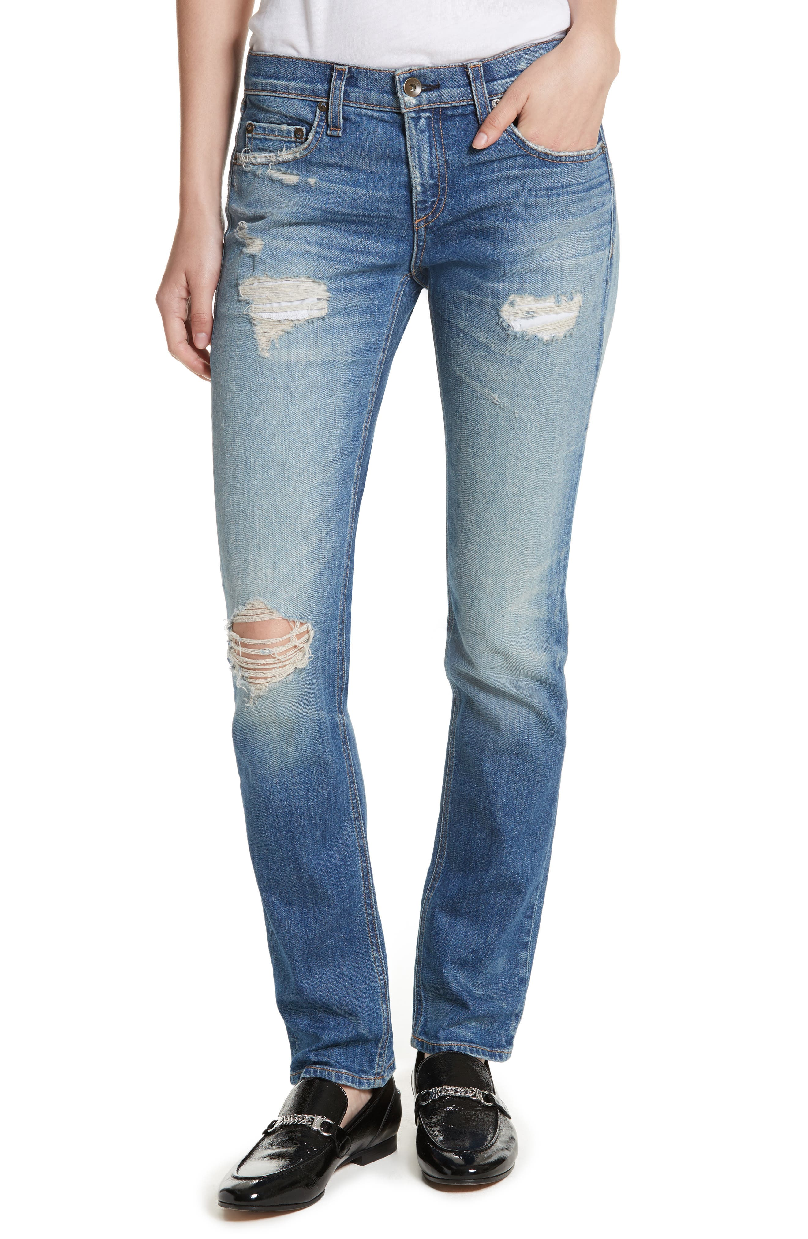 Dre Slim Boyfriend Jeans,                         Main,                         color, 420