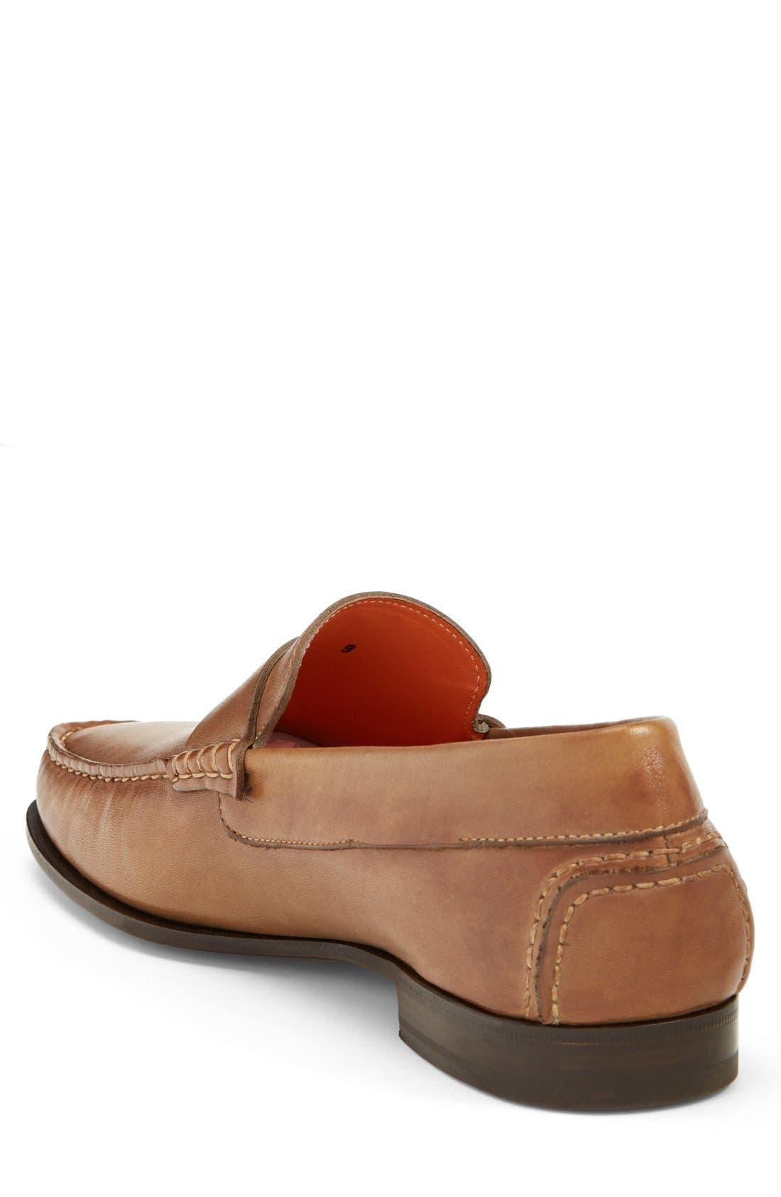 SANTONI,                             'Turner' Leather Penny Loafer,                             Alternate thumbnail 2, color,                             270