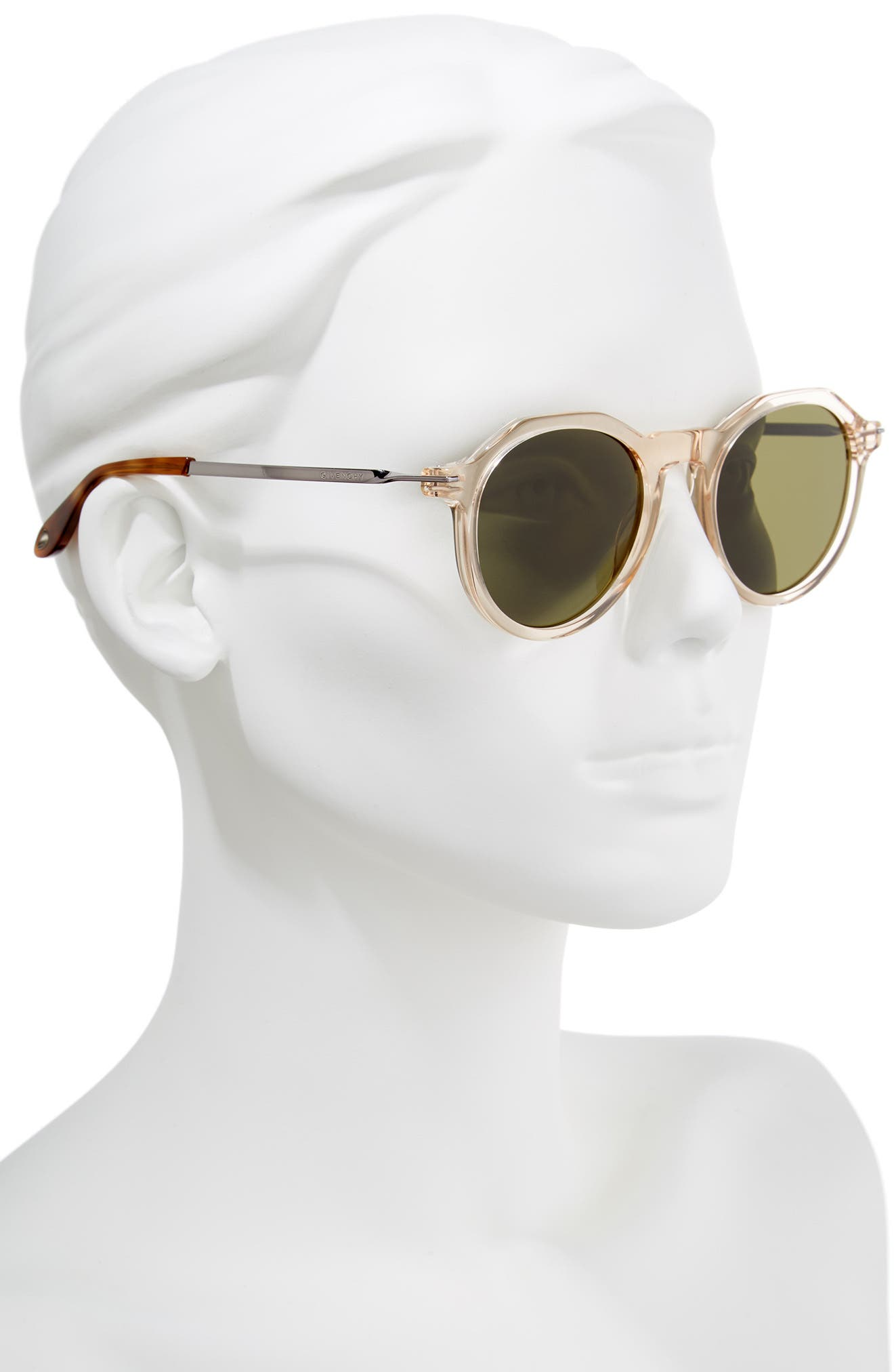 51mm Round Sunglasses,                             Alternate thumbnail 6, color,