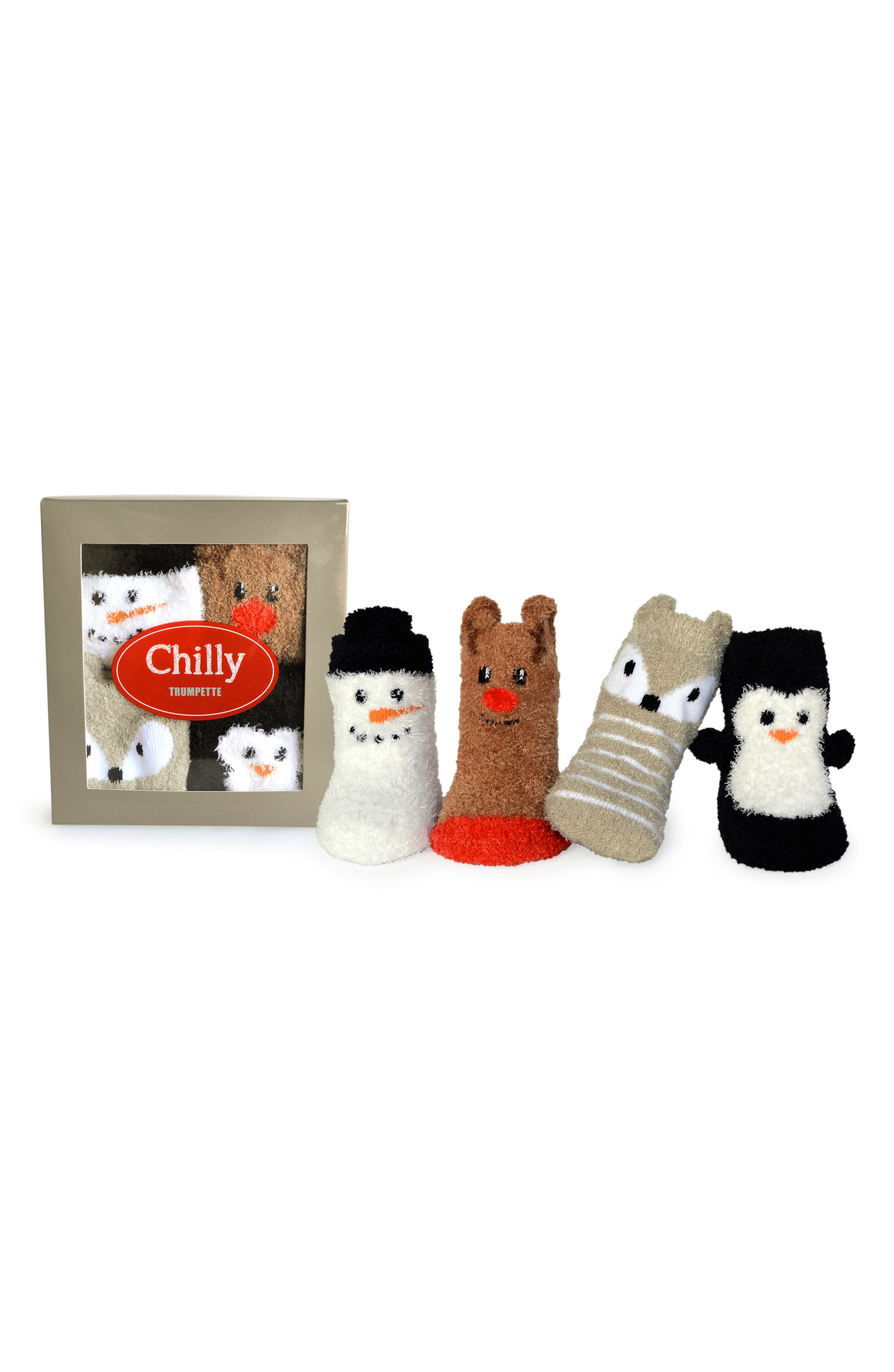 Chilly 4-Pack Socks,                             Main thumbnail 1, color,                             001