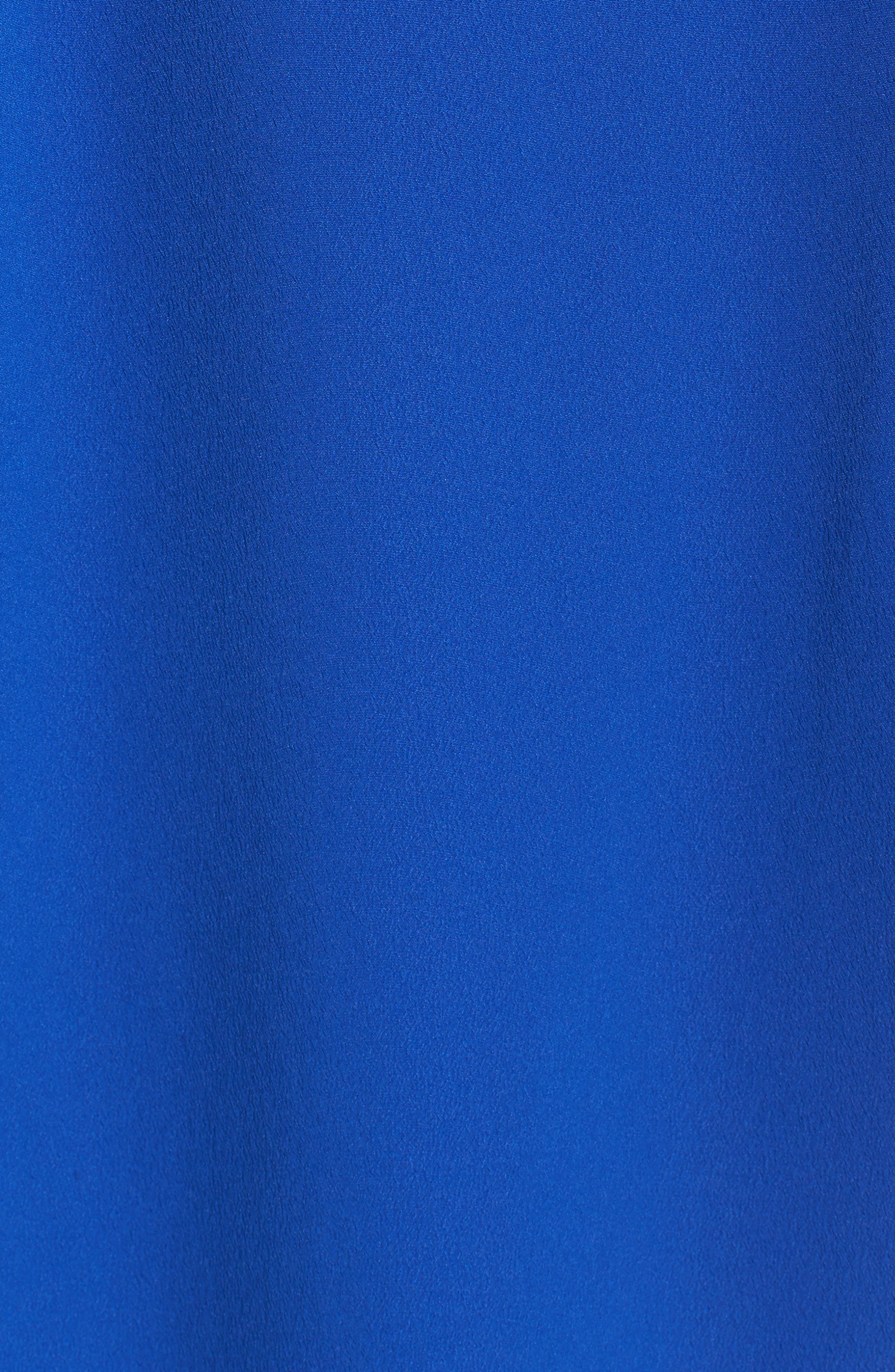 Off the Shoulder Obi Dress,                             Alternate thumbnail 6, color,                             COBALT