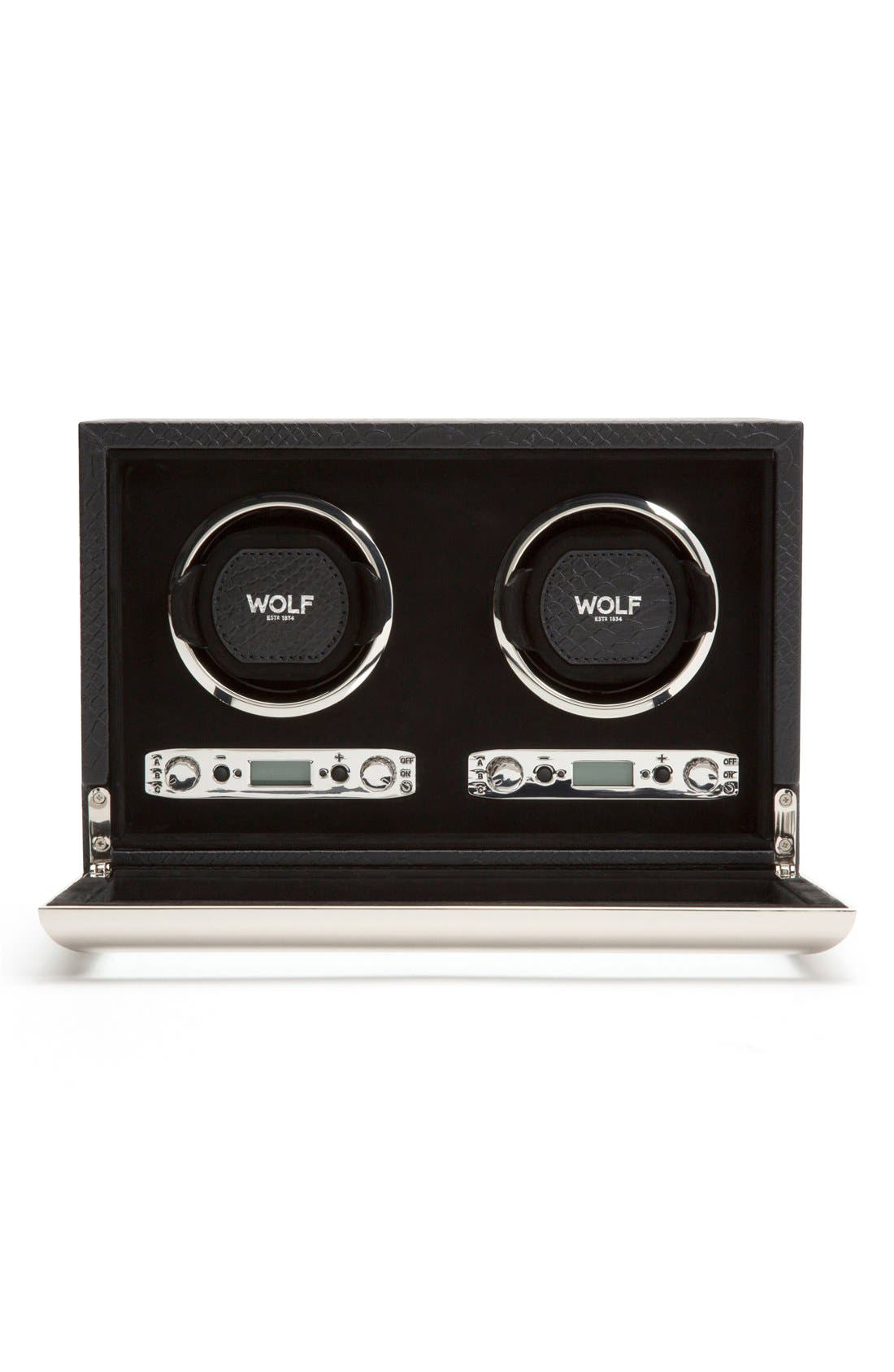 Exotic Double Watch Winder,                             Alternate thumbnail 4, color,                             BLACK
